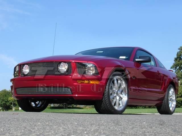 T-REX Grilles - 2005-2009 Mustang GT Billet Grille, Polished, 3 Pc, Overlay - PN #20516