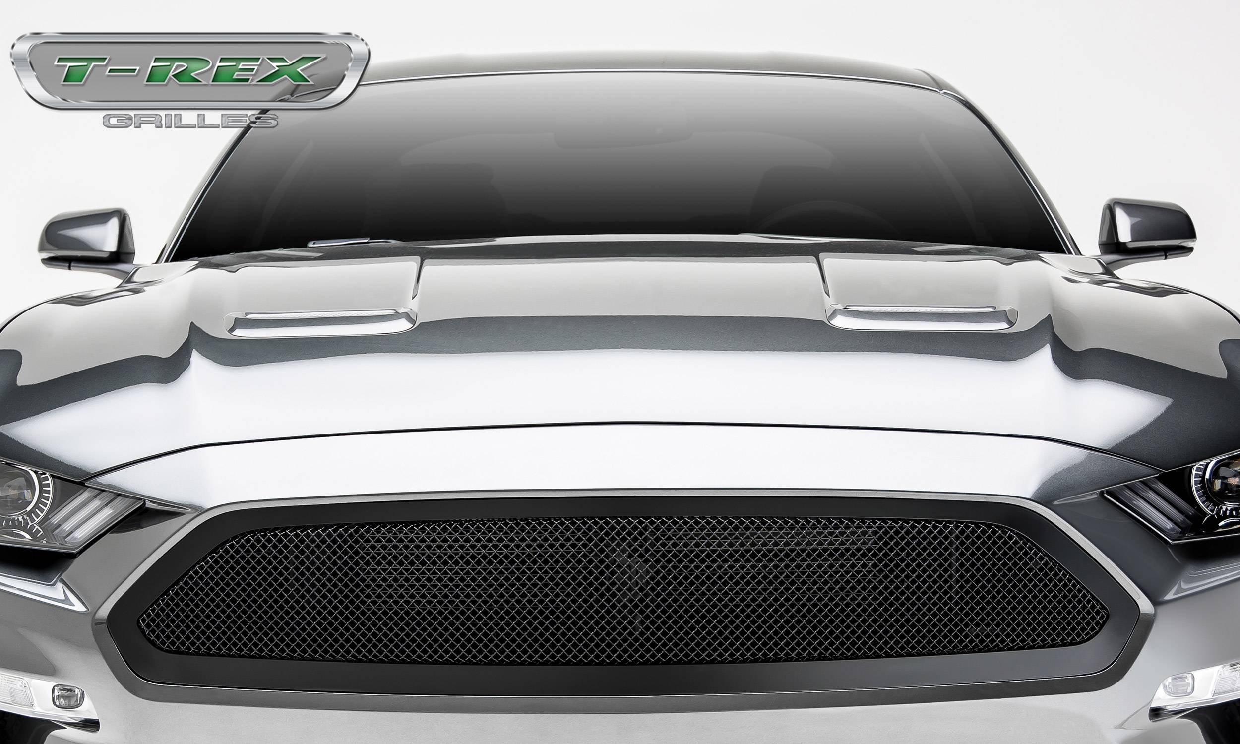 T-REX Grilles - Mustang GT - Upper Class Series - Main Grille, Insert Black Powder Coated Finish  #51550