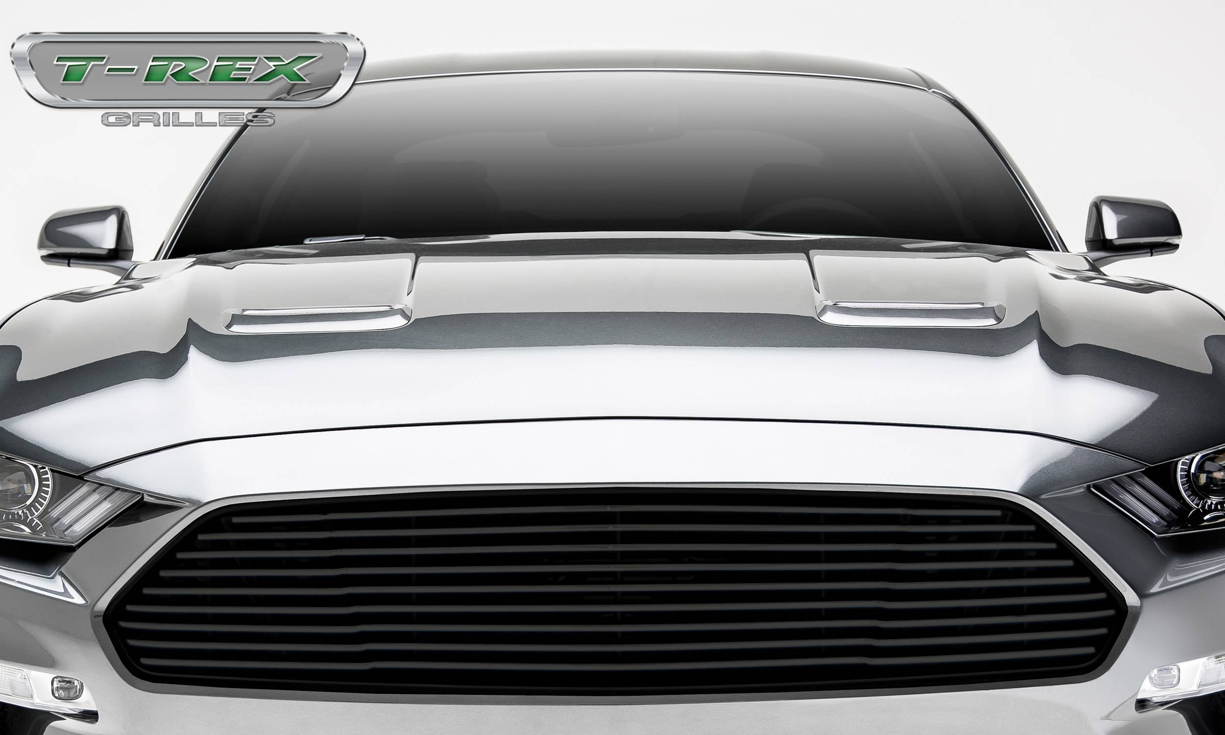 Ford Mustang GT - Billet Grille - Main, Overlay with Black Powder Coated Finish - Pt #6215501