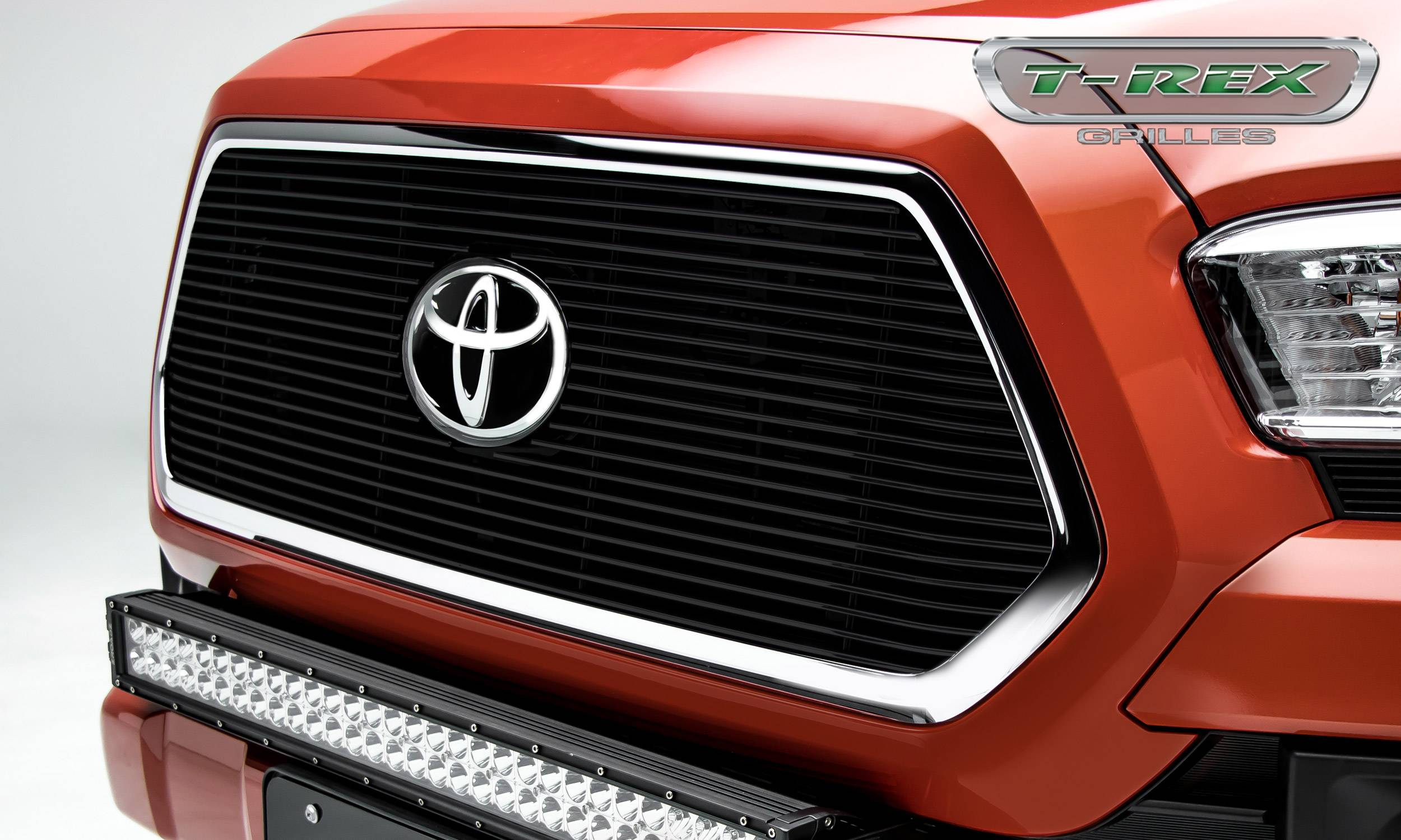 Toyota Tacoma - BILLET Series - Main Insert - Grille - Black - Accepts factory TSS logo - Part# 20950B