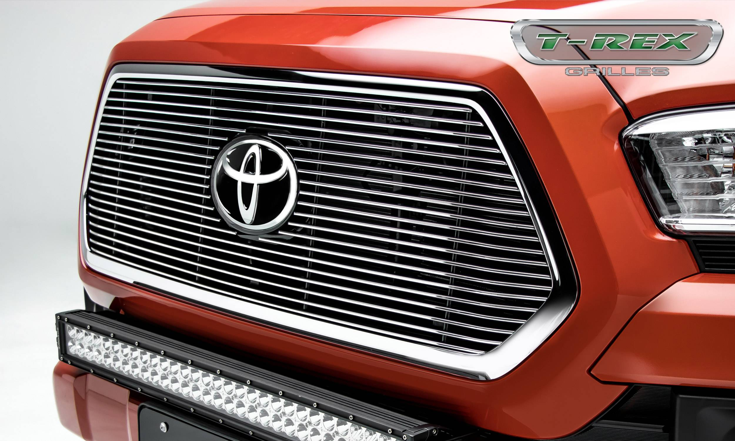 T-REX Grilles - Toyota Tacoma - BILLET Series - Main Insert - Grille - Polished - Accepts factory TSS logo - Part# 20950