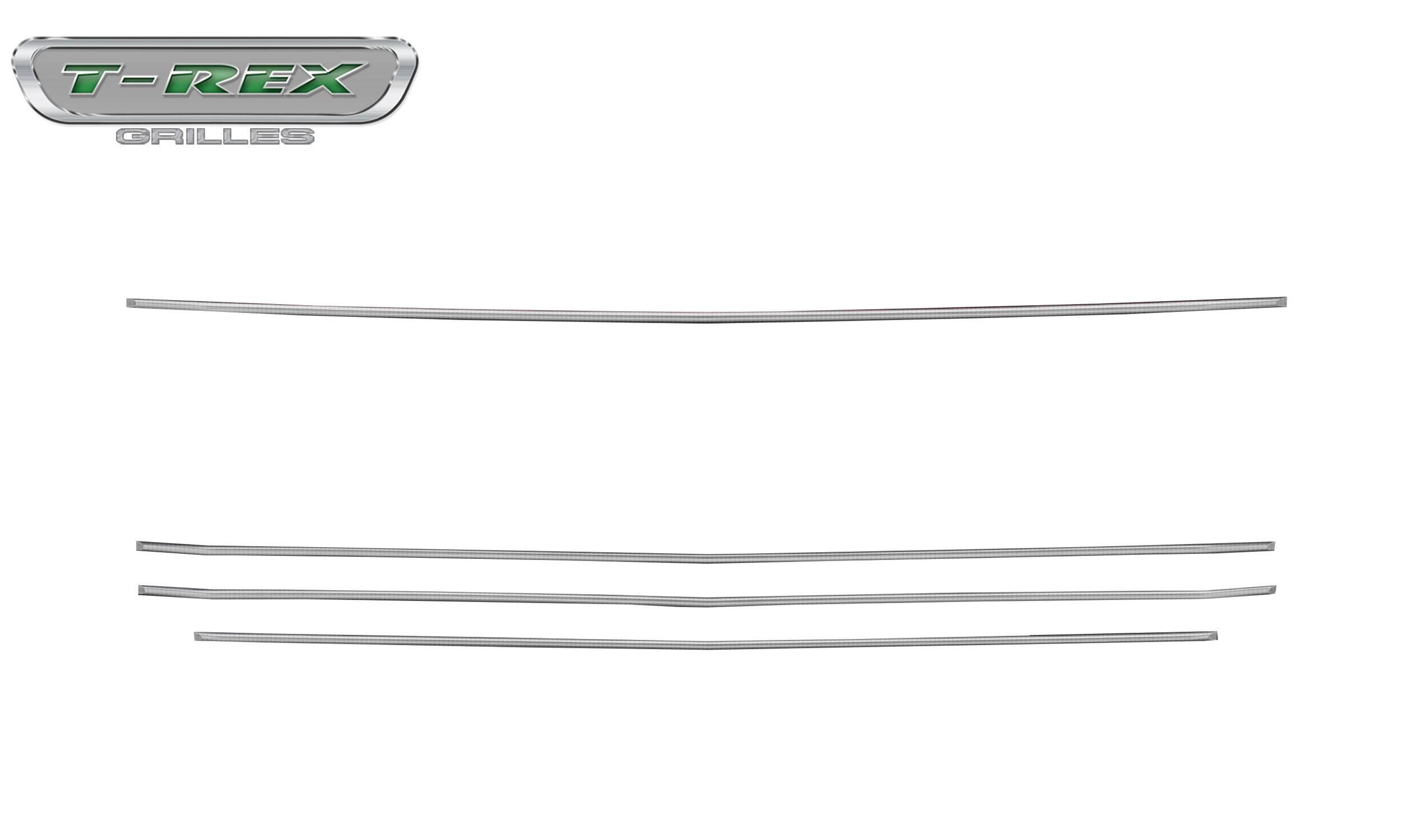 Chevrolet Silverado 1500 2019 Billet Grille, Horizontal Round, Brushed, Aluminum, 4 Pc, Overlay - Pt #6211233
