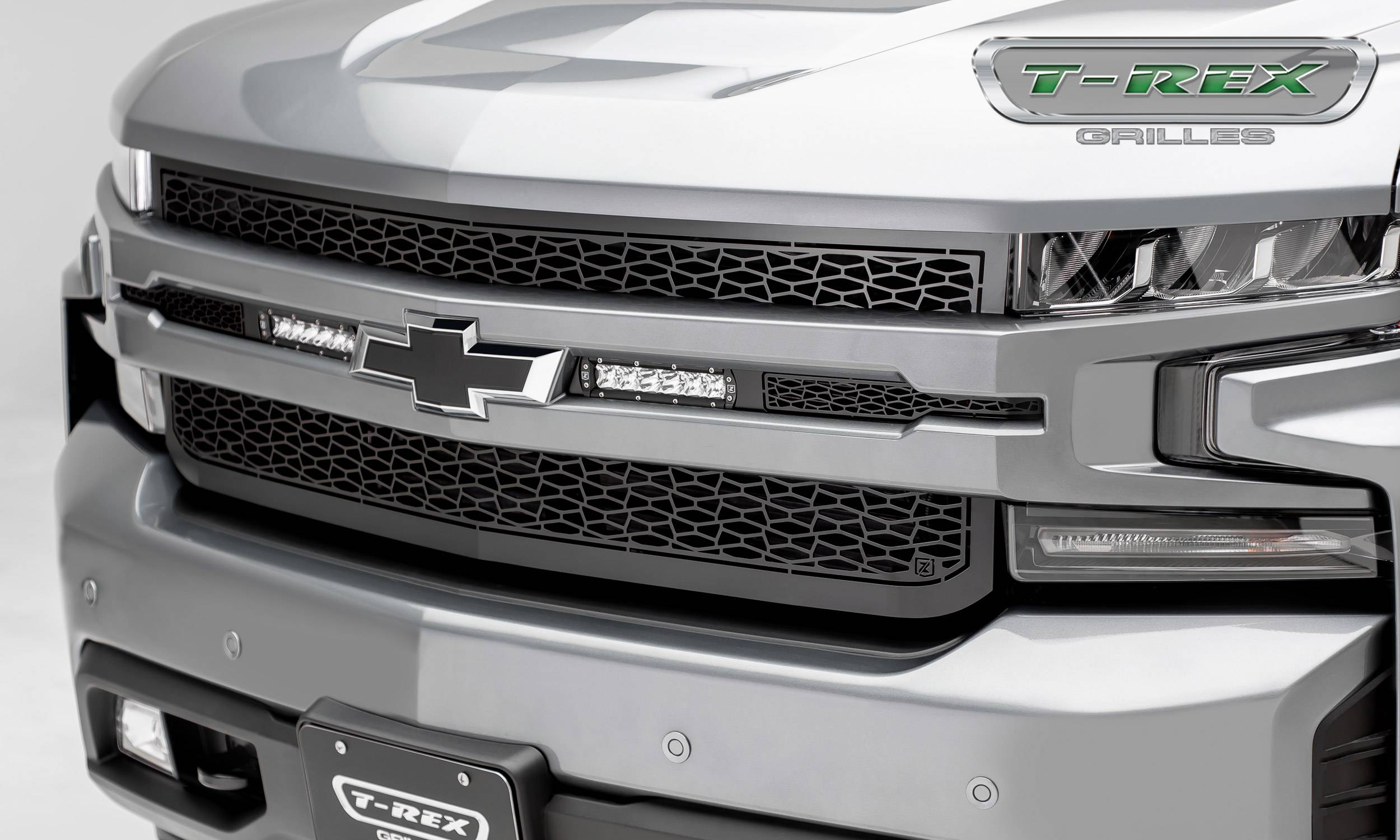"ZROADZ - 2019 Silverado 1500 ZROADZ Grille, Black, 1 Pc, Replacement, Incl. (2) 6"" LEDs - PN #Z311261"