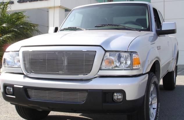 T-REX Grilles - 2006-2012 Ford Ranger XLT, Ranger FX4 Billet Grille, Polished, 1 Pc, Insert - PN #20661
