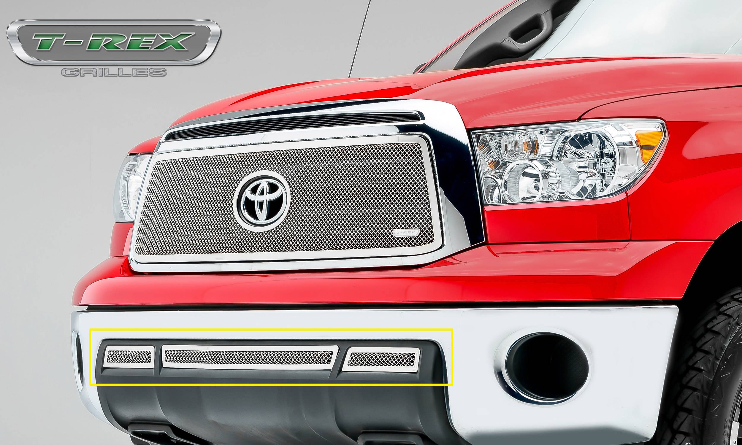 T-REX Grilles - 2010-2013 Tundra Upper Class Exterior Trim, Polished, 3 Pc, Overlay - PN #55961