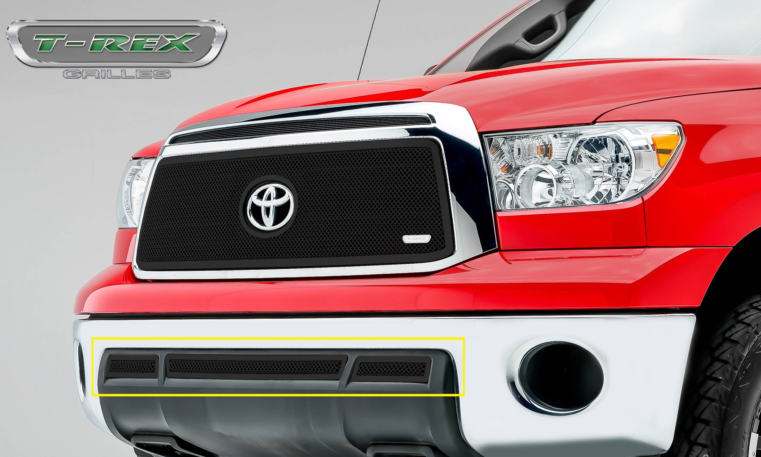 T-REX Grilles - 2010-2013 Tundra Upper Class Exterior Trim, Black, 3 Pc, Overlay - PN #52961