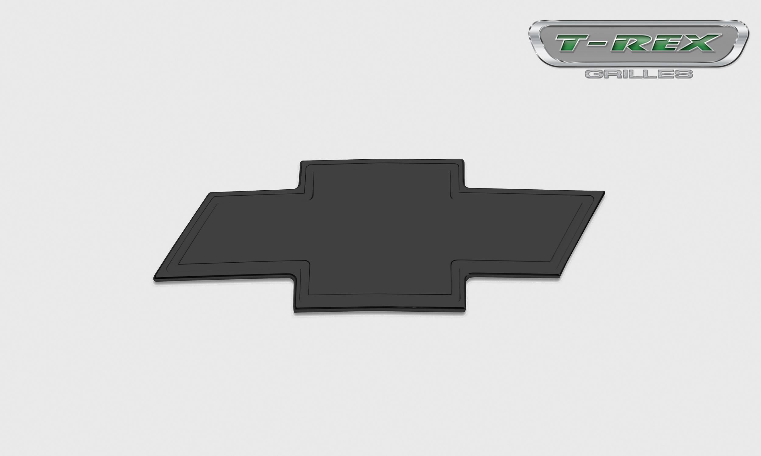 T-REX Grilles - Bowtie with Border, Black, 1 Pc, Bolt-On - PN #19110B