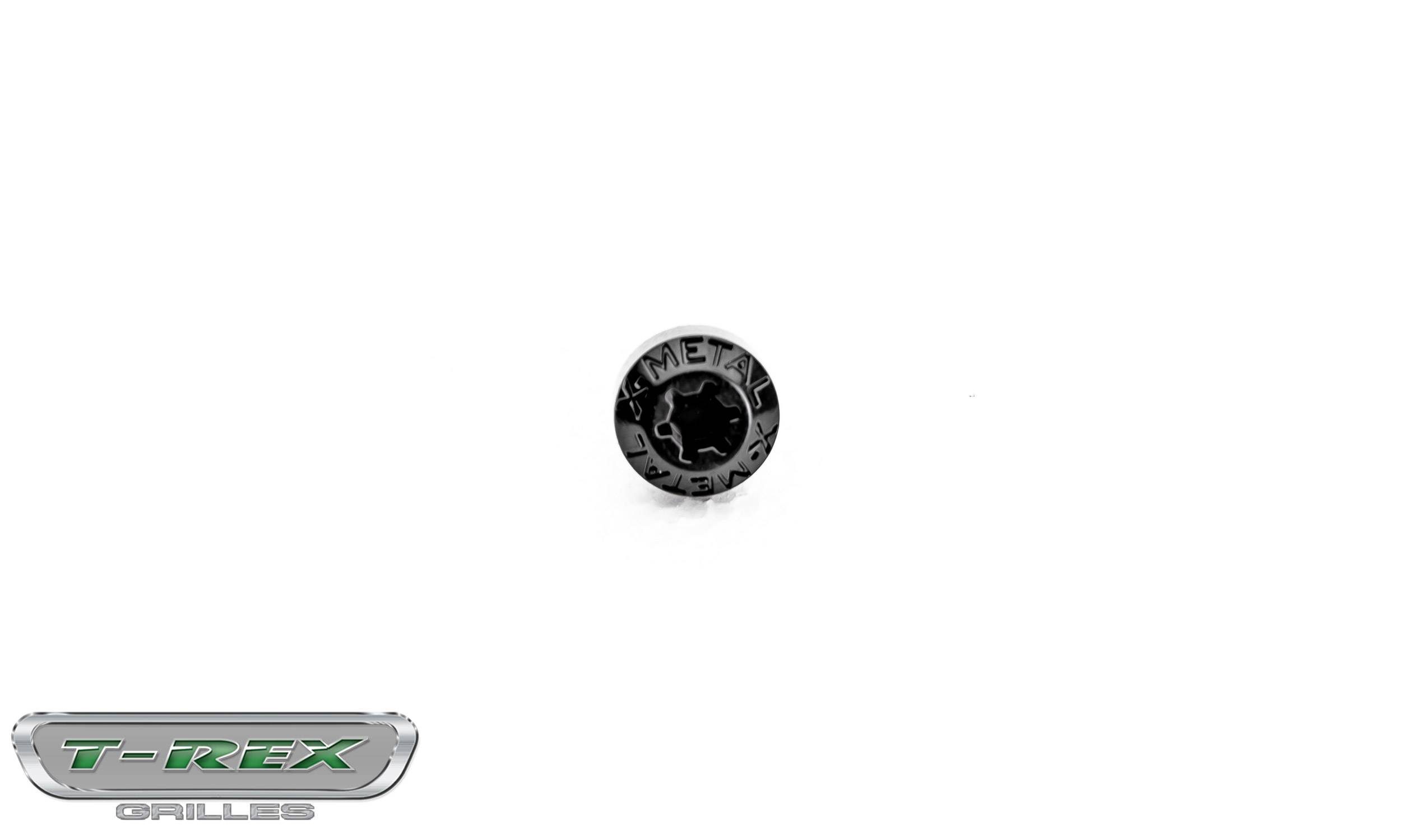 T-REX Grilles - Universal X-Metal Studs, Black, Plastic, 5 Pc - PN #6710000-3B