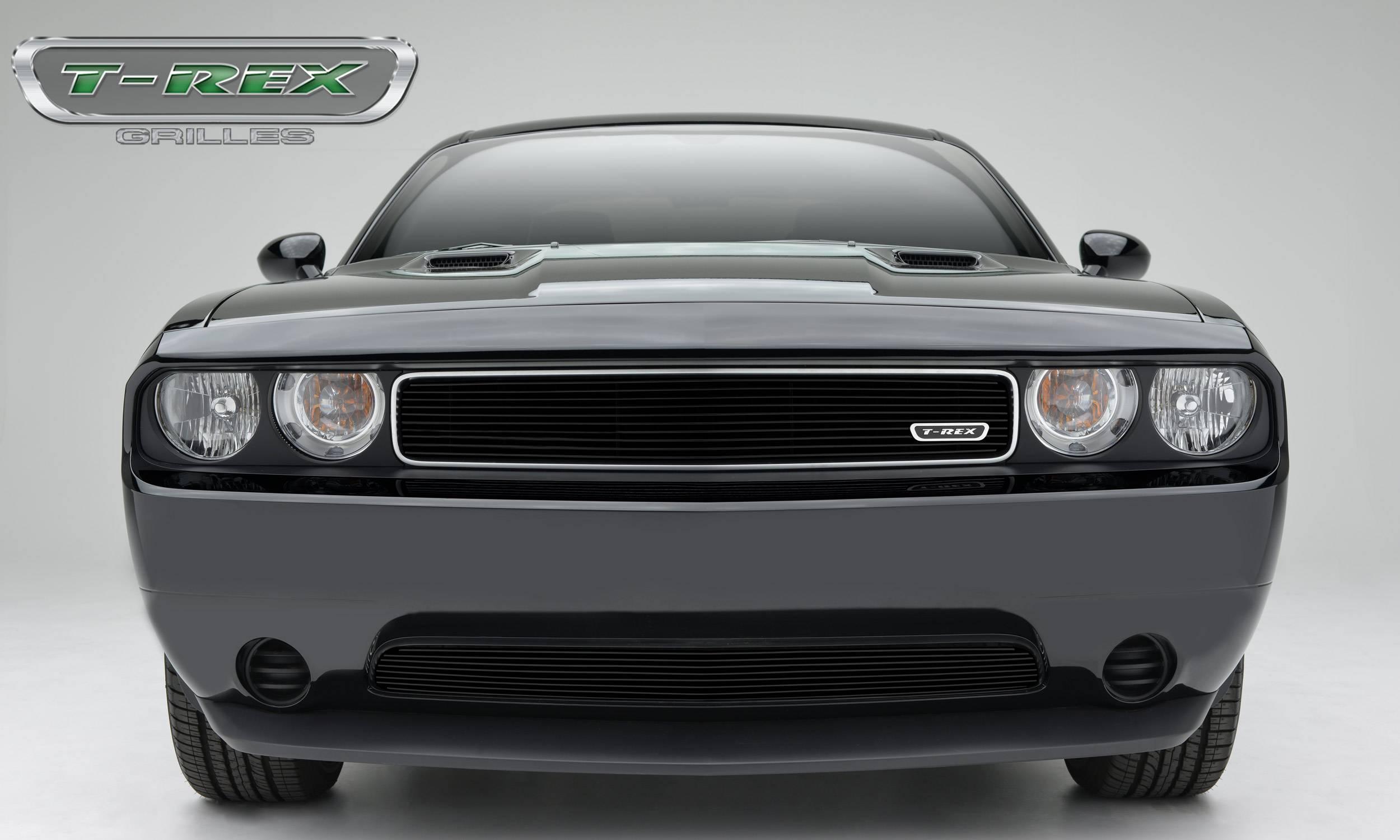 T-REX Grilles - Dodge Challenger - Main - Billet Grille Insert - Black - Pt # 21415B
