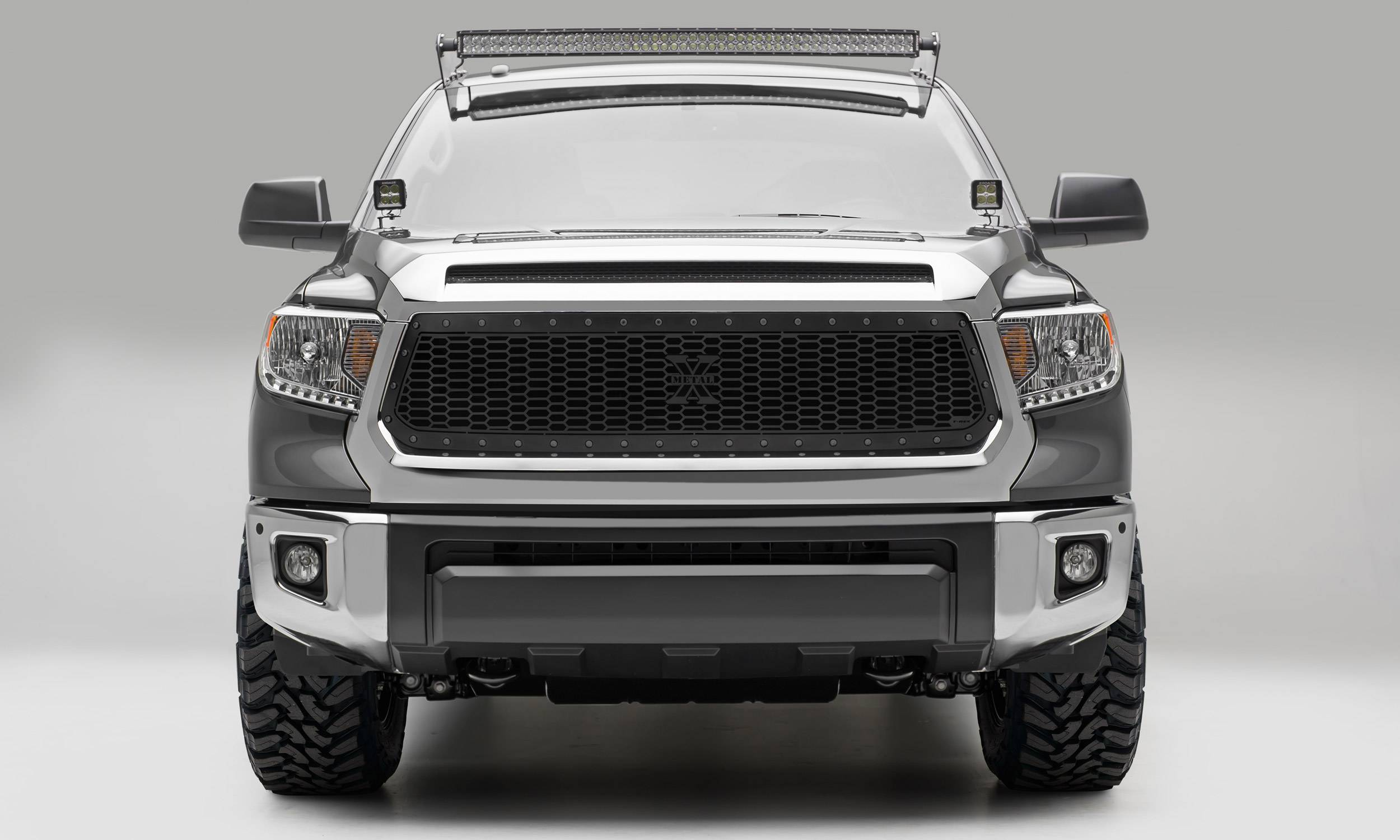 T-REX Grilles - 2014-2017 Tundra Stealth Laser X Grille, Black, 1 Pc, Replacement, Black Studs - PN #7719641-BR
