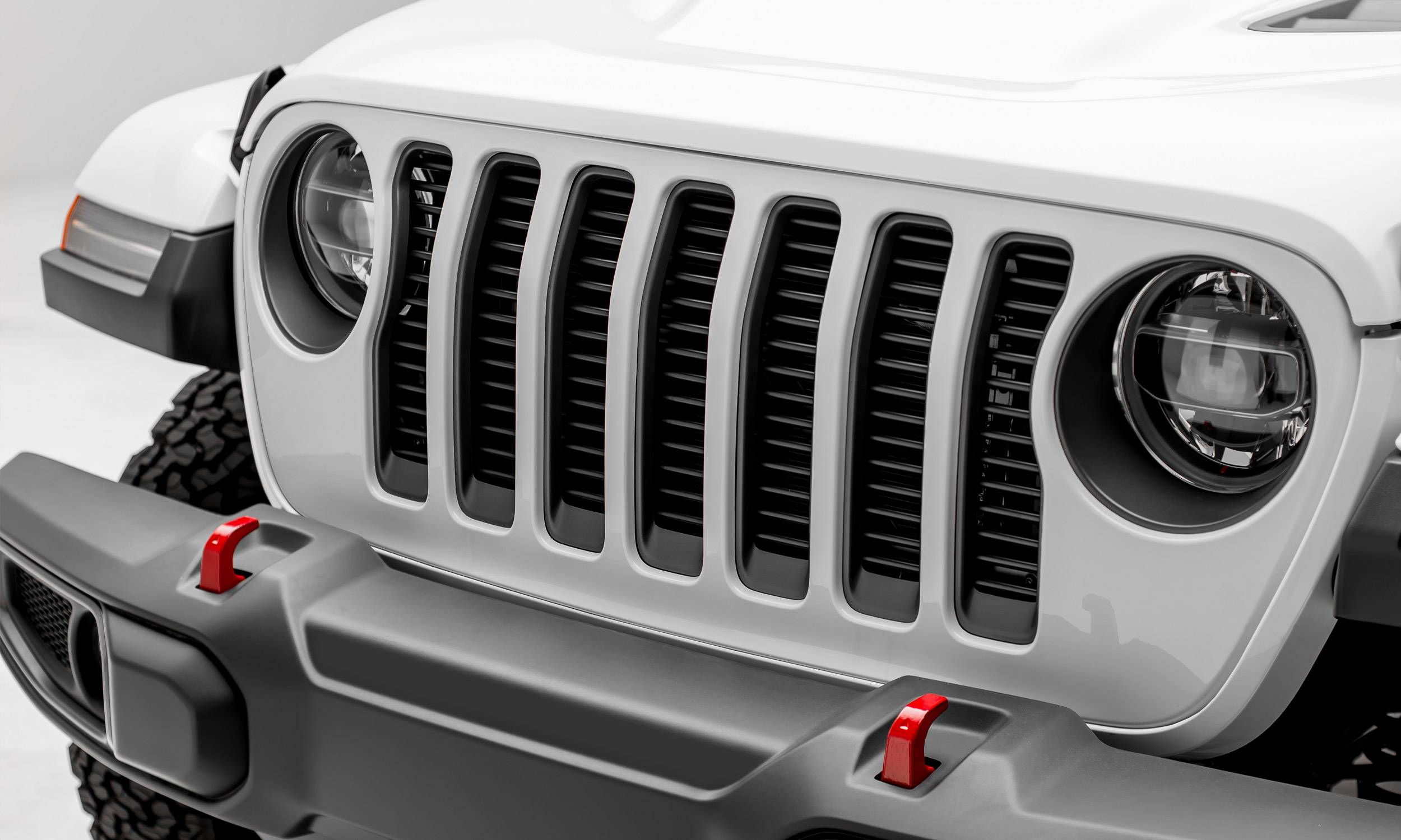 T-REX Grilles - Jeep Gladiator, JL Round Billet Grille, Black, 1 Pc, Insert, without Forward Facing Camera - PN #6204941
