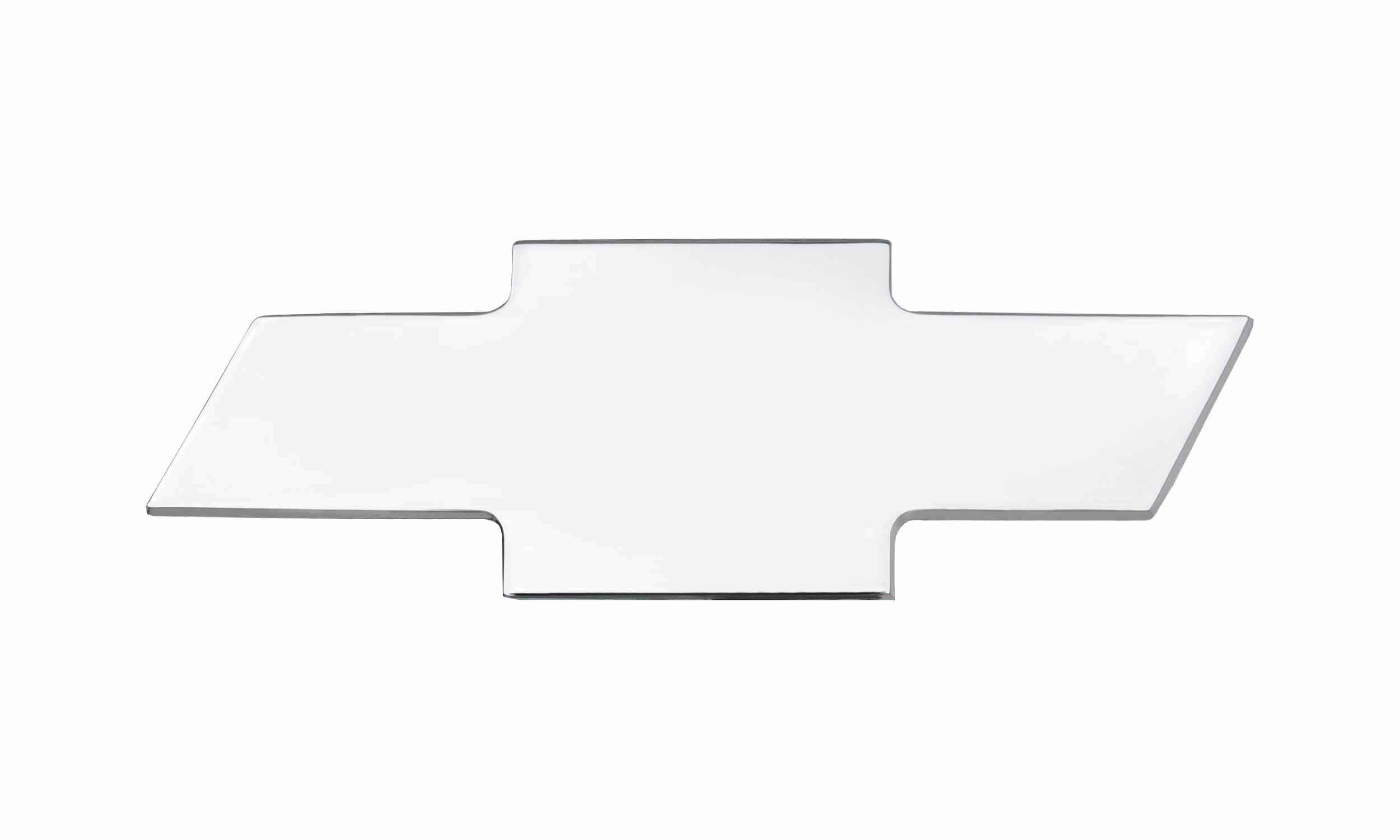 T-REX Grilles - Front Bowtie, Plain, Polished, 1 Pc, Bolt-On - PN #19075