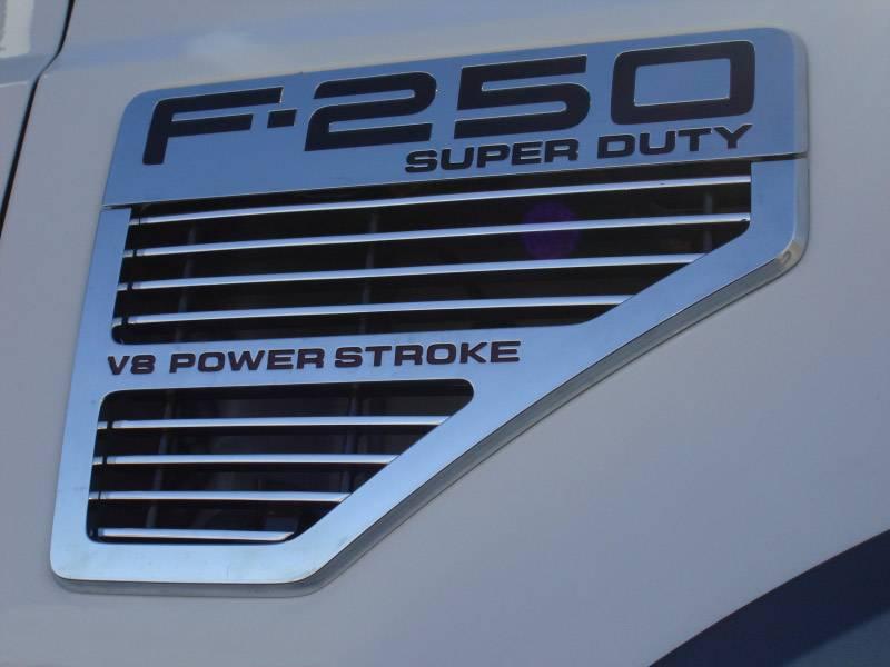 T-REX Grilles - 2008-2010 Super Duty Billet Side Vent, Polished, 2 Pc, Bolt-On - PN #20564