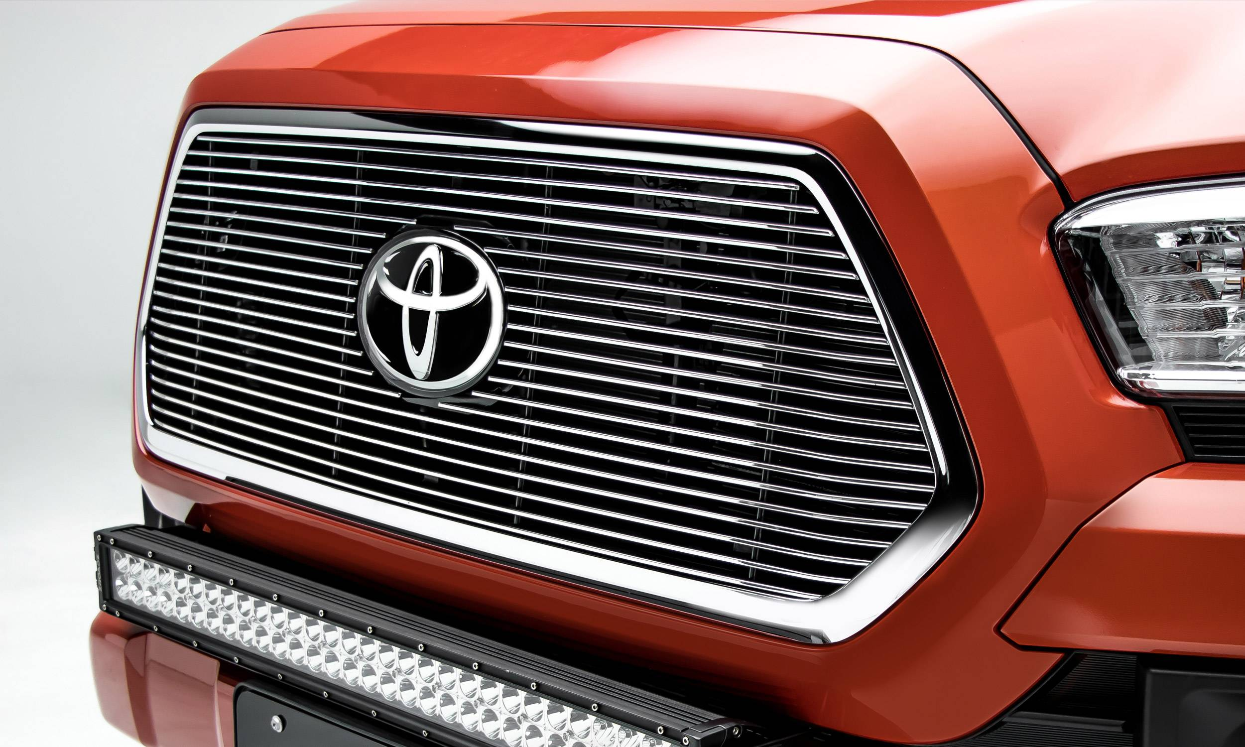 T-REX Grilles - 2018-2021 Tacoma Billet Grille, Polished, 1 Pc, Insert, Does Not Fit Vehicles with Camera - PN #20950