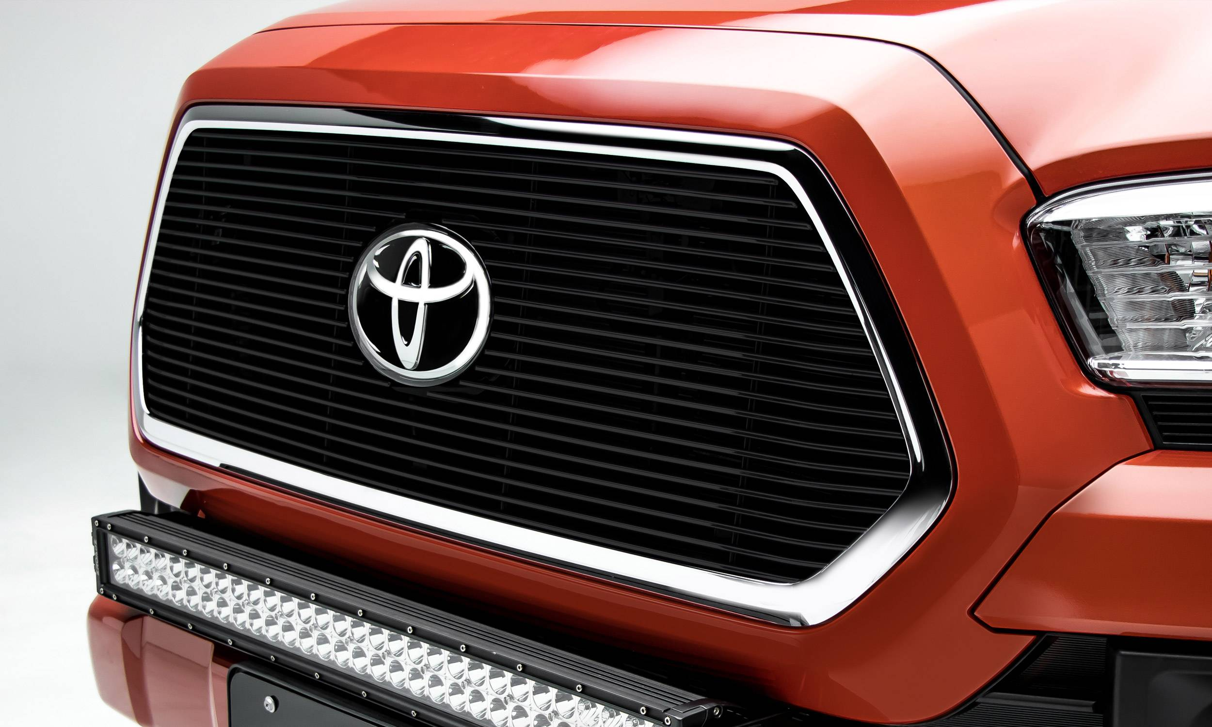 T-REX Grilles - 2018-2021 Tacoma Billet Grille, Black, 1 Pc, Insert, Does Not Fit Vehicles with Camera - PN #20950B