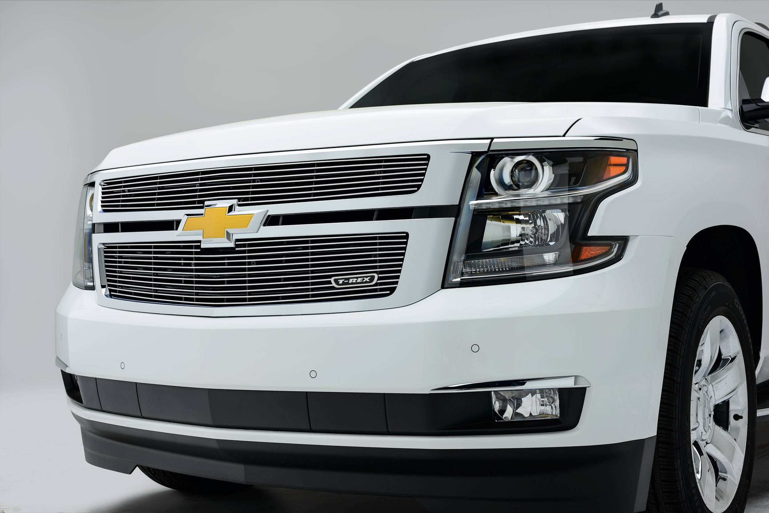 T-REX Grilles - 2015-2020 Suburban and Tahoe LT, LTZ Billet Grille, Polished, 2 Pc, Overlay - PN #21055
