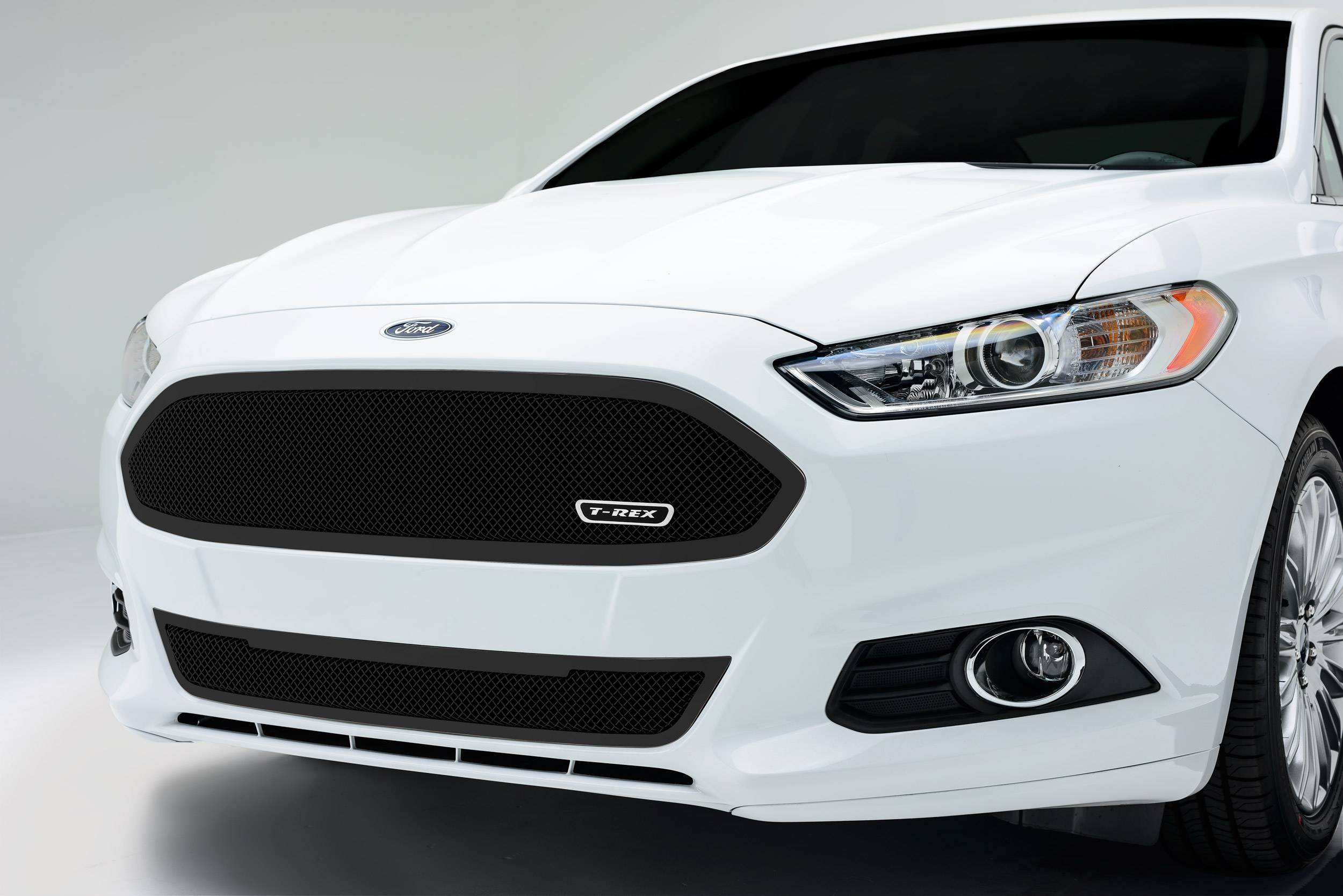 T-REX Grilles - 2013-2015 Ford Fusion Upper Class Series Main Grille, Black, 1 Pc, Replacement, Full Opening - PN #51532