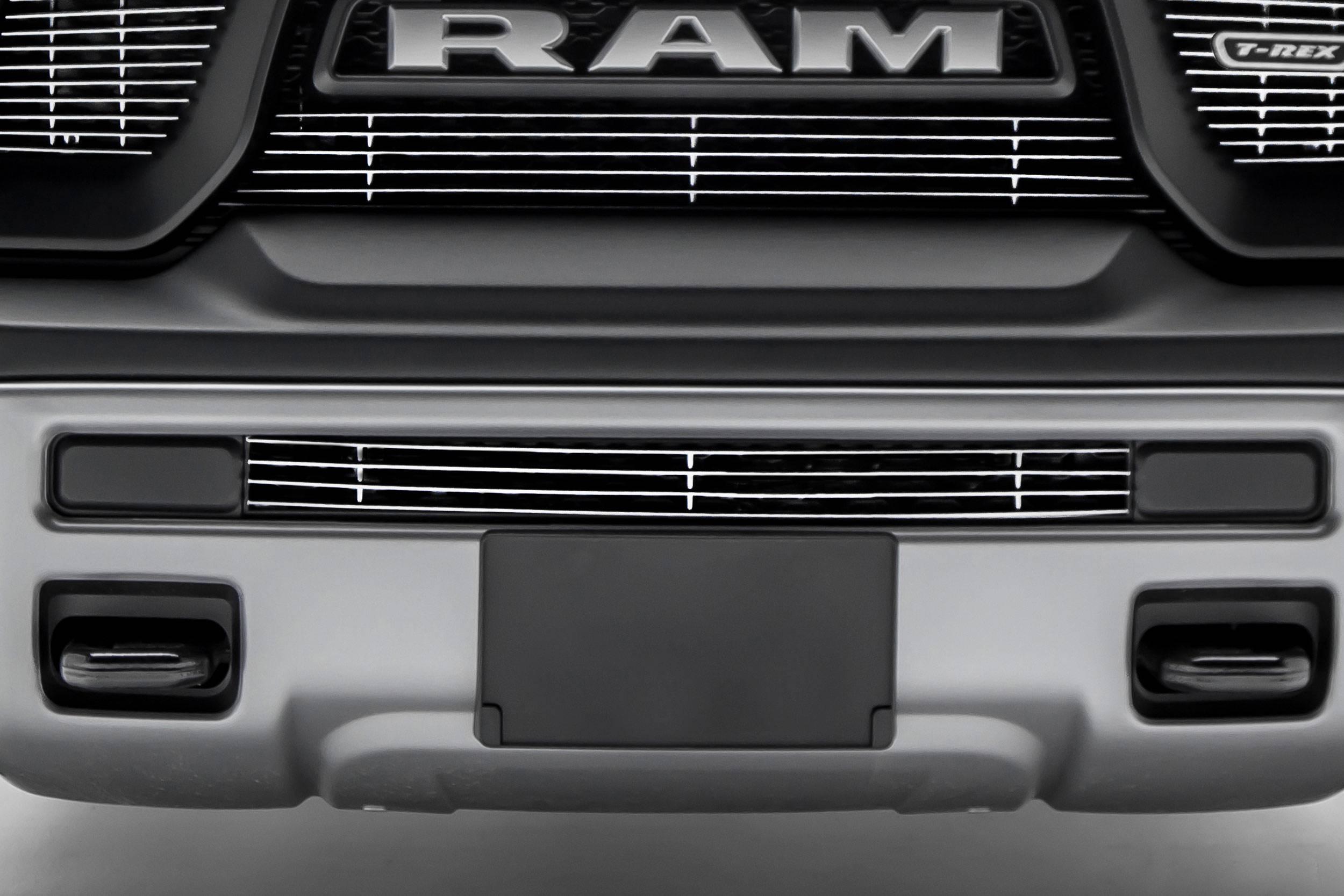 T-REX Grilles - 2015-2018 Ram 1500 Rebel Billet Bumper Grille, Polished, 1 Pc, Insert - PN #254641