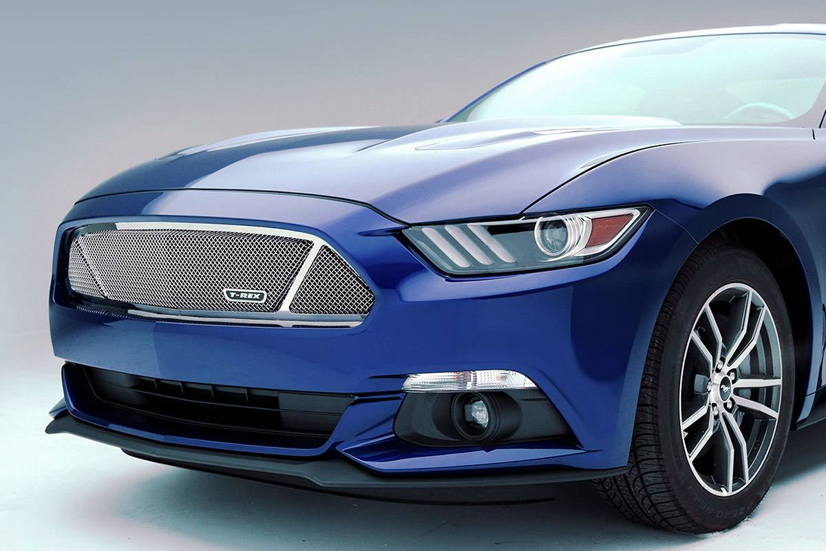 T-REX Grilles - 2015-2017 Mustang GT Upper Class Series Main Grille, Polished, 1 Pc, Overlay - PN #54529