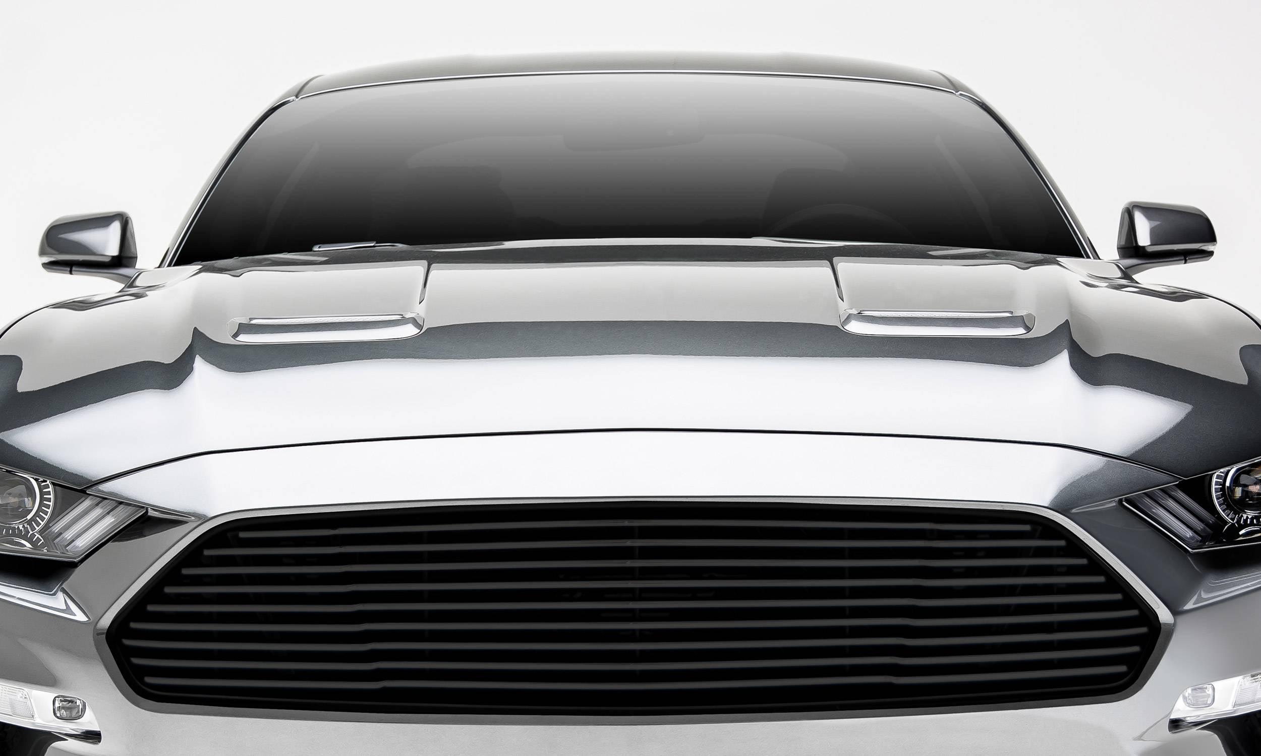 T-REX Grilles - 2018-2021 Mustang GT Billet Grille, Black, 1 Pc, Overlay - PN #6215501