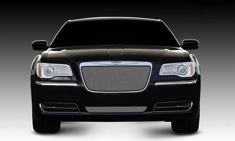 T-REX Grilles - 2011-2014 Chrysler 300 Sport Grille, Chrome, 1 Pc, Insert - PN #44433