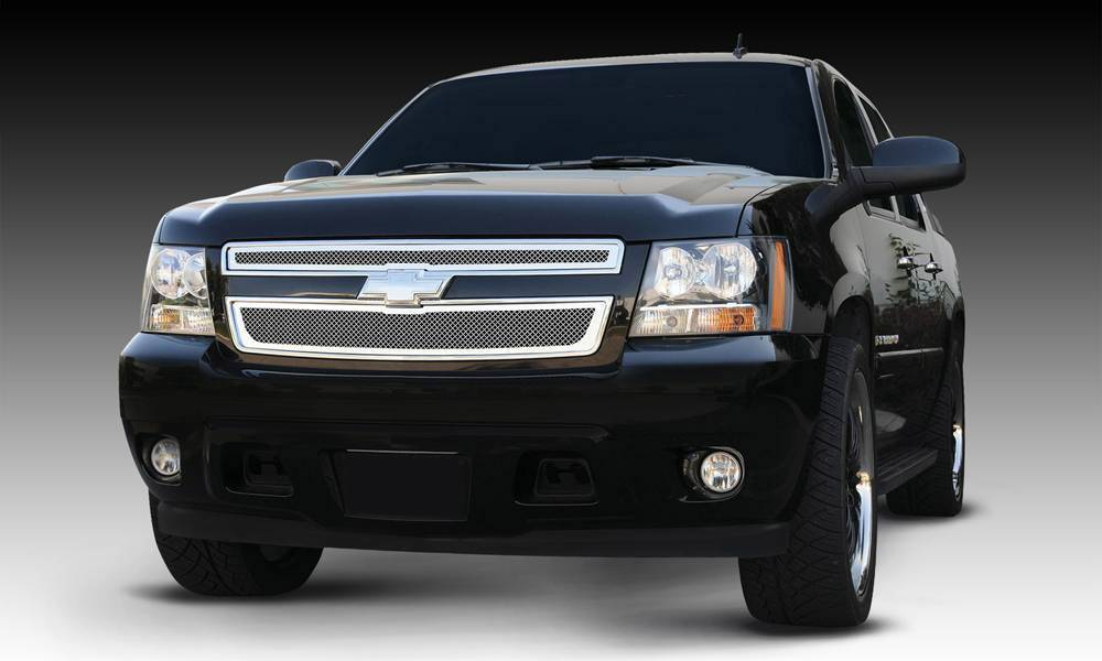 T-REX Grilles - 2007-2013 Avalanche, 07-14 Sub/Tahoe Upper Class Series Main Grille, Polished, 2 Pc, Overlay - PN #54051