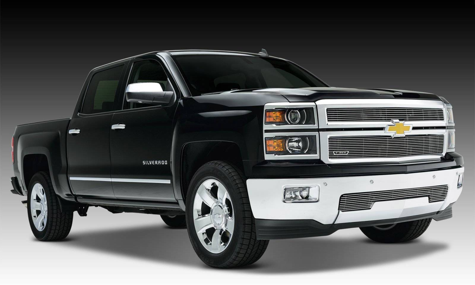 T-REX Grilles - 2014-2015 Silverado 1500 Billet Grille, Polished, 2 Pc, Replacement - PN #20121