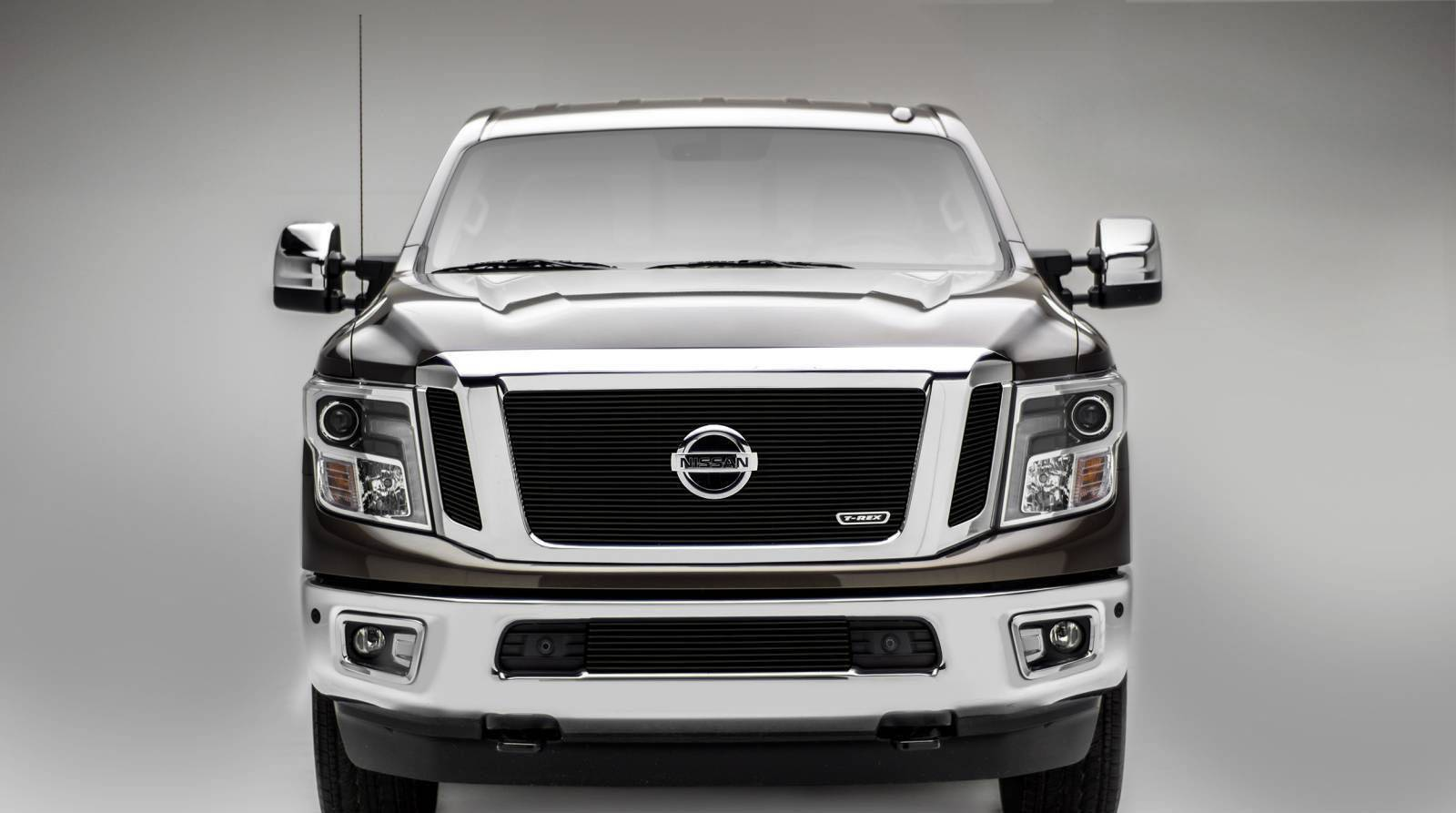 T-REX Grilles - 2016-2019 Titan Billet Grille, Black, 3 Pc, Insert, Fits Vehicles with Camera - PN #20785B