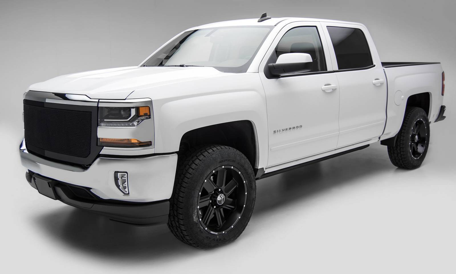 T-REX Grilles - 2016-2018 Silverado 1500 Upper Class Series Mesh Grille, Black, 1 Pc, Replacement, Full Opening - PN #51127