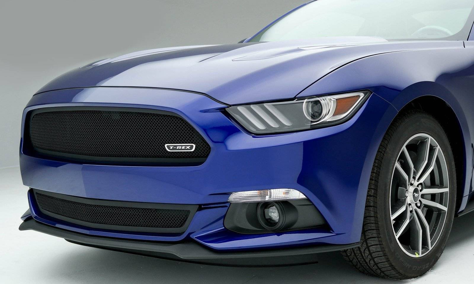 T-REX Grilles - 2015-2017 Mustang GT Upper Class Grille, Black, 1 Pc, Overlay, Full Opening - PN #51530