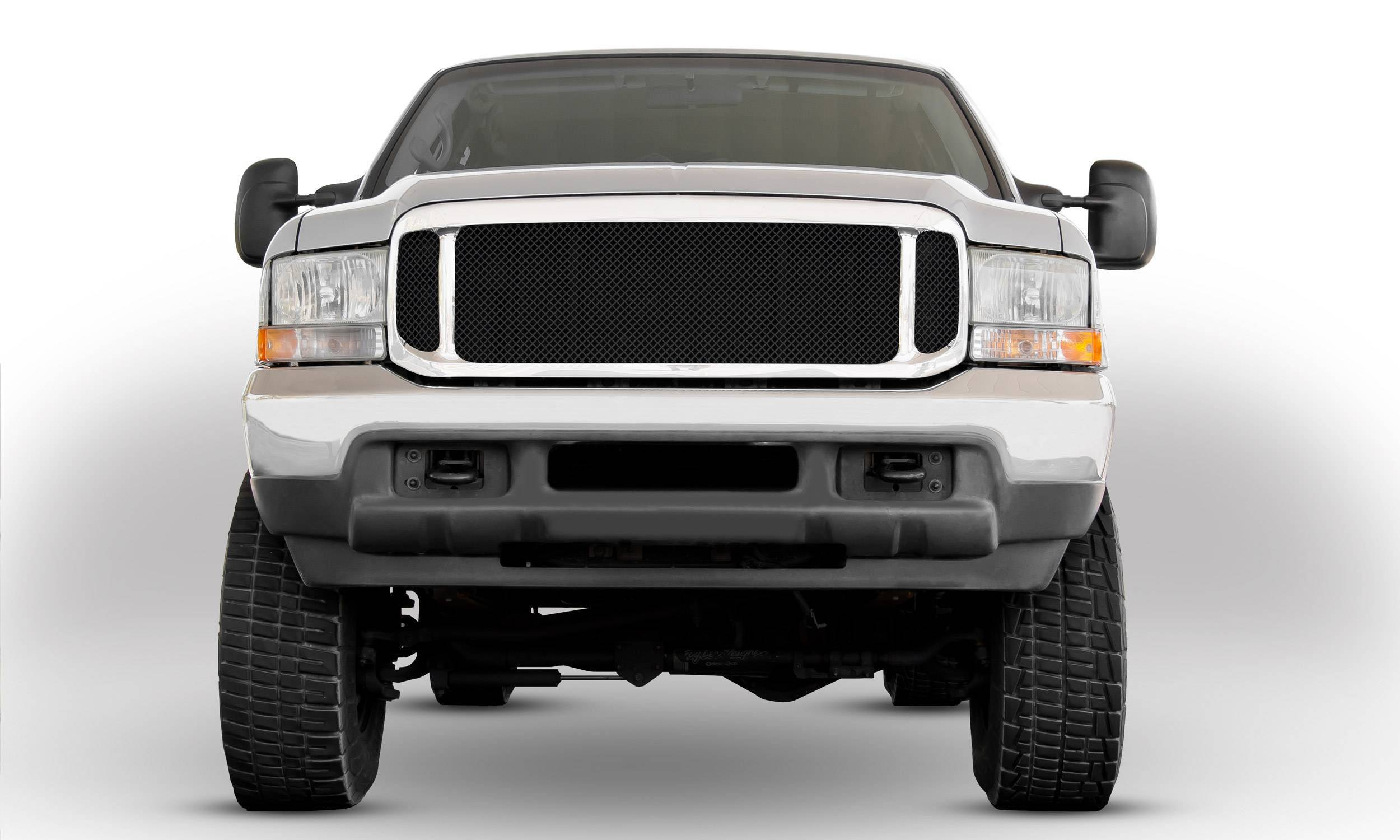 T-REX Grilles - 1999-2004 Super Duty Upper Class Series Main Grille, Black, 1 Pc, Insert - PN #51571