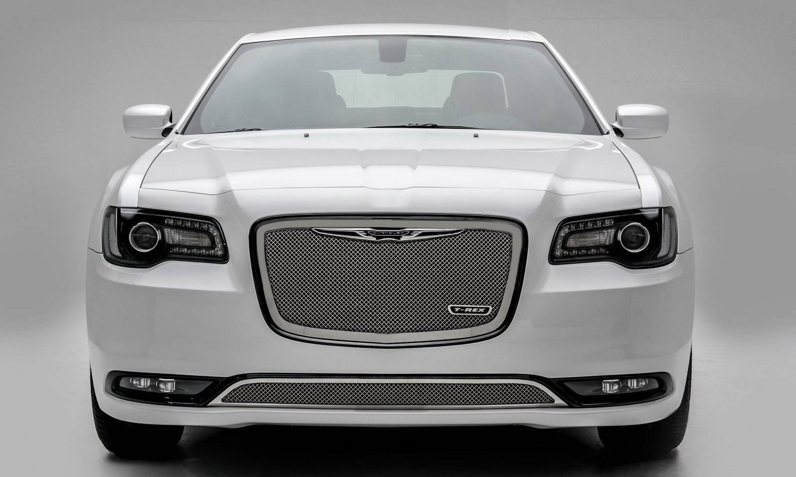T-REX Grilles - 2015-2018 Chrysler 300 Upper Class Series Main Grille, Polished, 1 Pc, Replacement - PN #54436