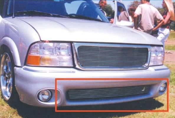 T-REX Grilles - 1998-2000 GMC Envoy Billet Bumper Grille, Polished, Aluminum, 1 Pc, Bolt-On #25377