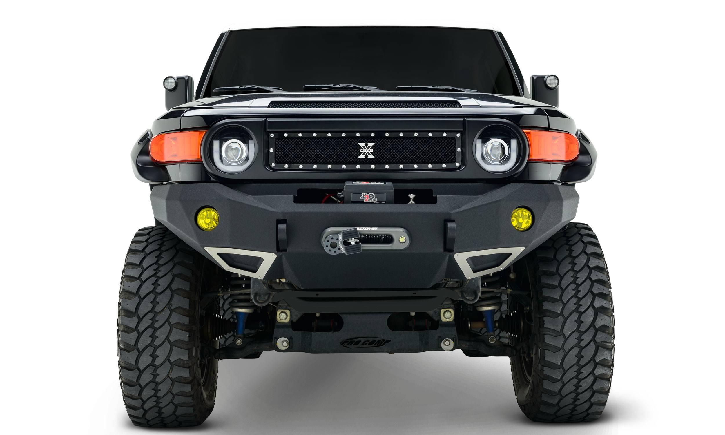 T-REX Grilles - 2007-2014 Toyota FJ Cruiser X-Metal Grille, Black, 1 Pc, Insert, Chrome Studs - PN #6719321