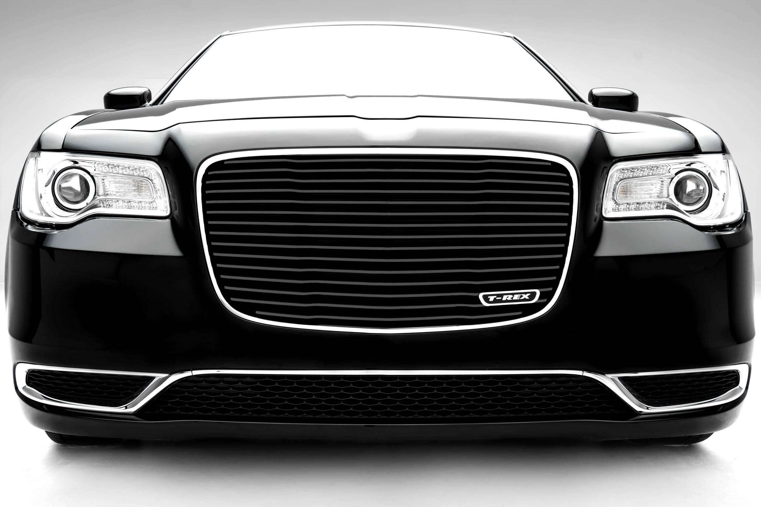 T-REX Grilles - 2015-2018 Chrysler 300 Laser Billet Grille, Black, 1 Pc, Replacement - PN #6214361
