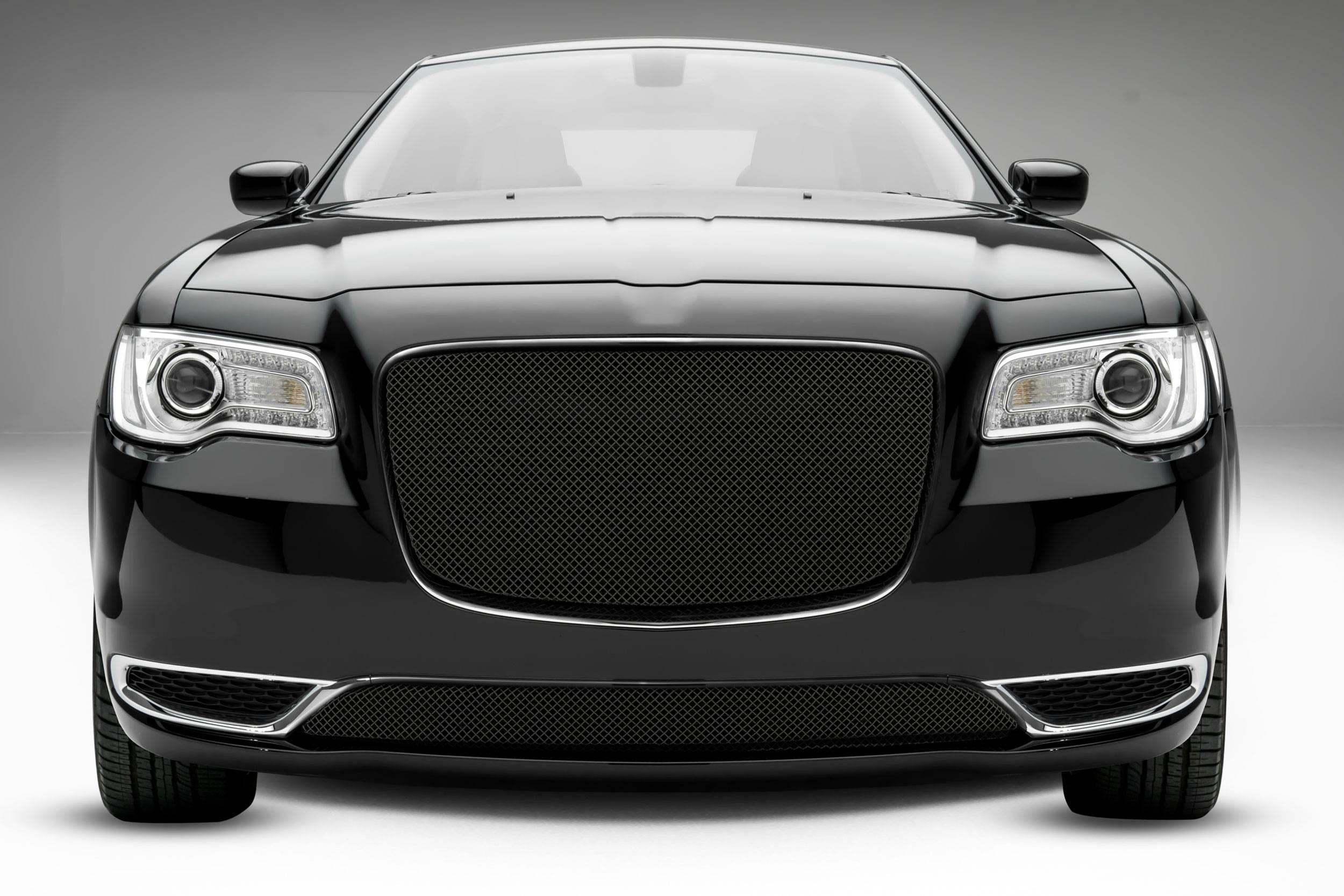 T-REX Grilles - 2015-2018 Chrysler 300 Sport Grille, Black, 1 Pc, Overlay - PN #46436