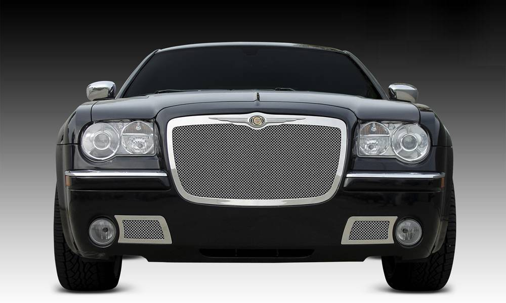 T-REX Grilles - 2005-2010 Chrysler 300, 300C, SRT Upper Class Series Main Grille, Polished, 1 Pc, Replacement - PN #54471