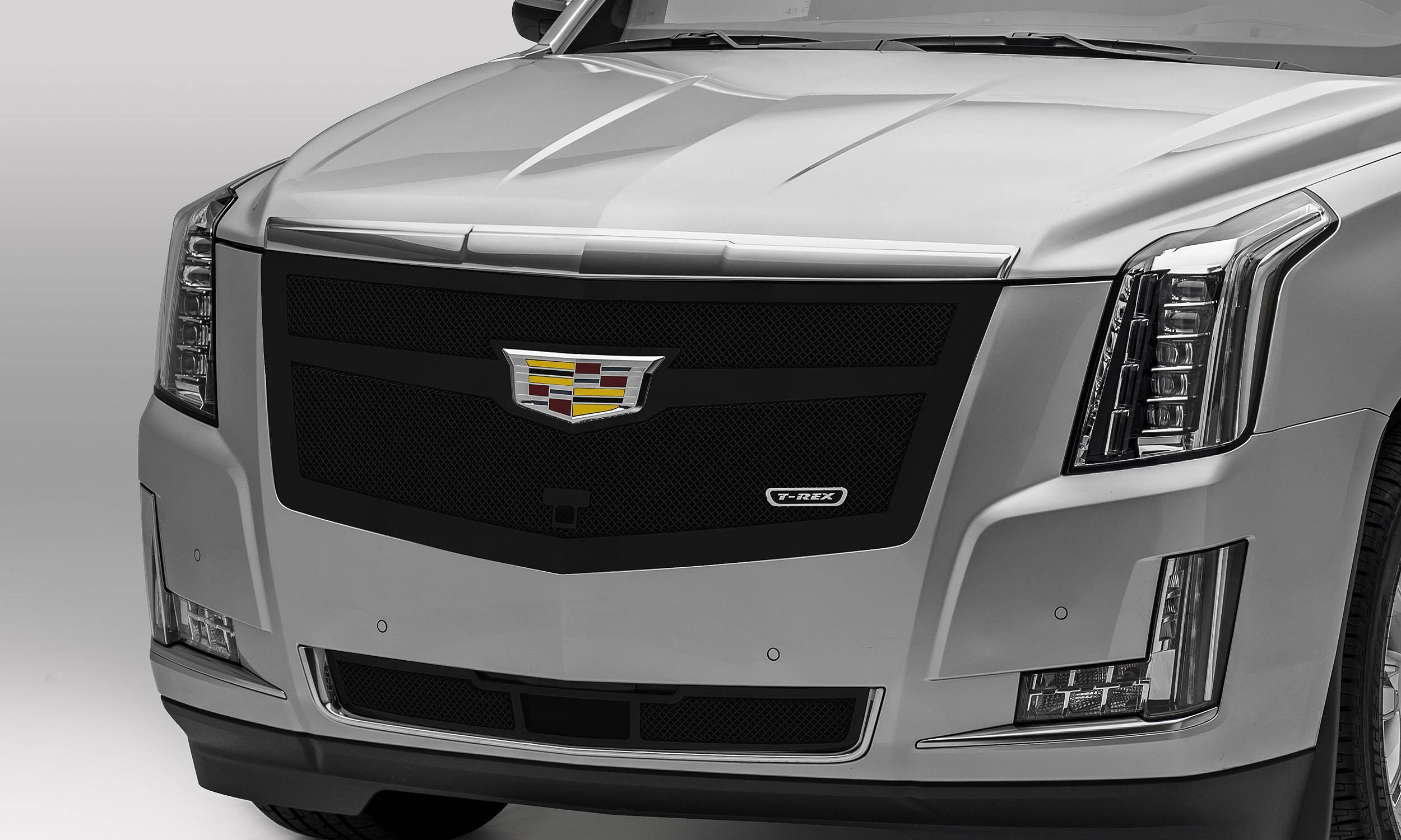 T-REX Grilles - 2015i-2020 Escalade Upper Class Series Main Grille, Black, 1 Pc, Replacement, Fits Vehicles with Camera - PN #51181