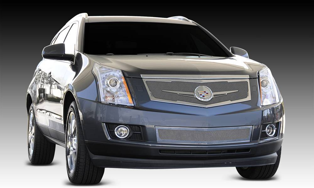 T-REX Grilles - 2010-2016 Cadillac SRX Upper Class Series Main Grille, Chrome, 1 Pc, Replacement, Full Opening with Winged OE Logo Plate - PN #56186