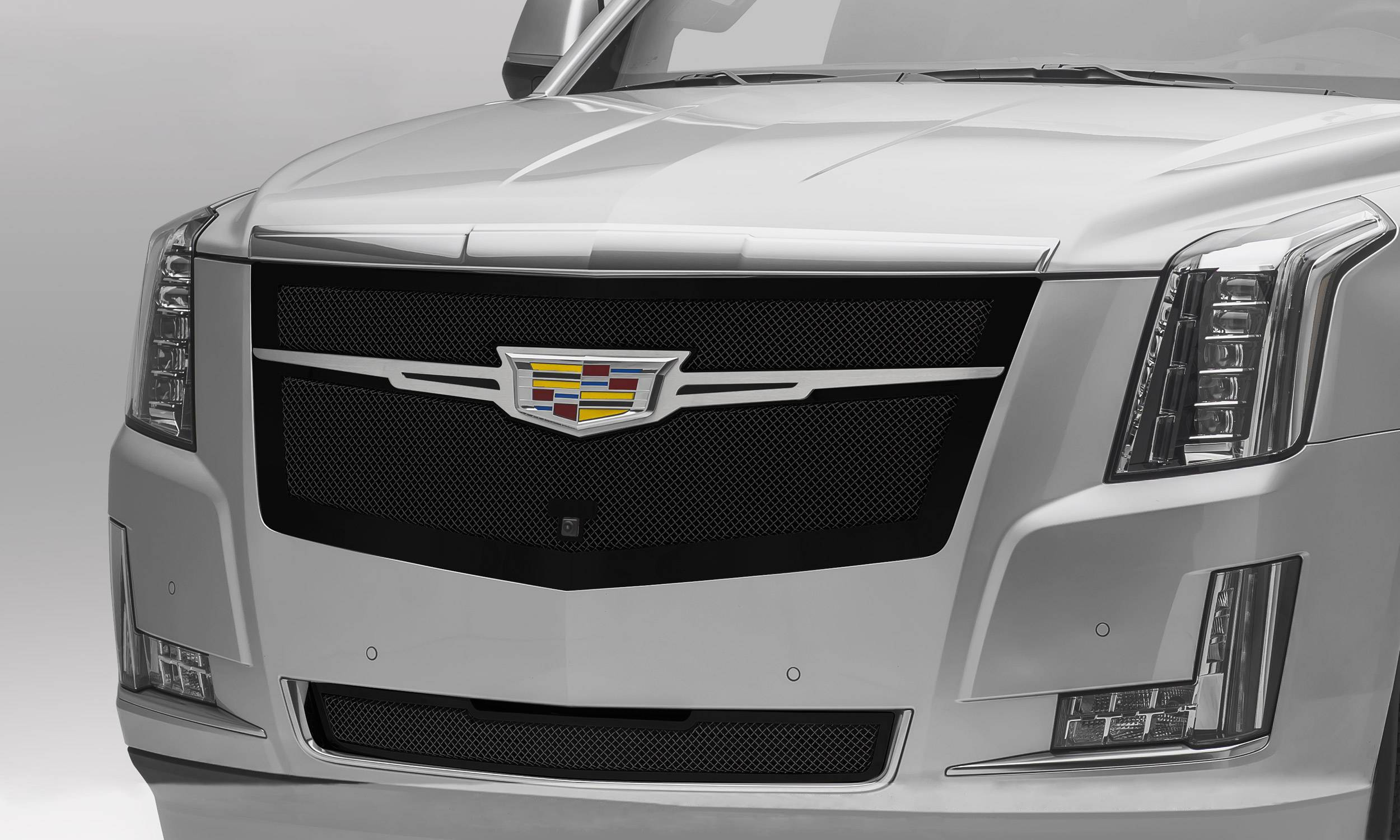 T-REX Grilles - 2015 Escalade Upper Class Series Main Grille, Black with Brushed Center Trim Piece, 1 Pc, Replacement - PN #51184