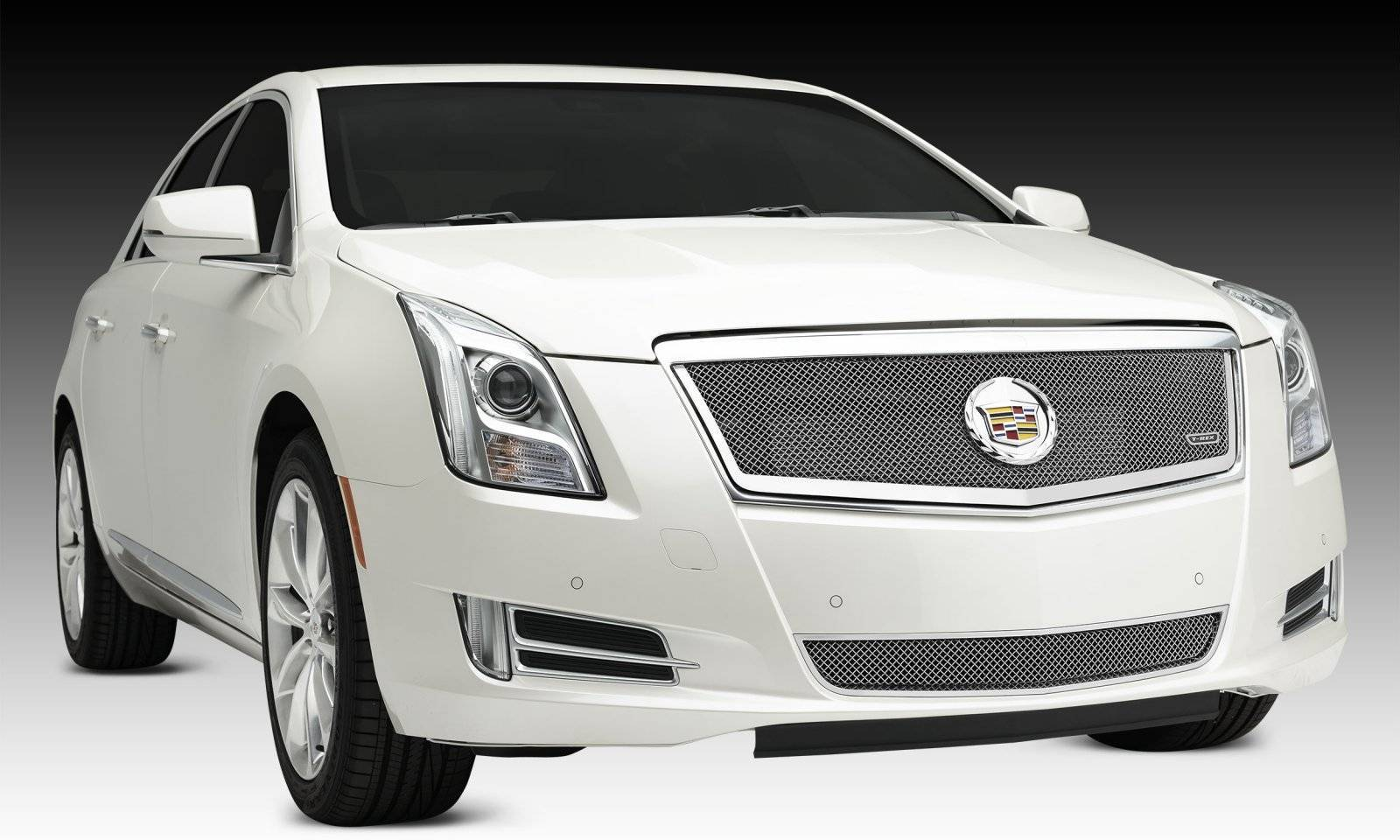 T-REX Grilles - 2013-2014 Cadillac XTS Upper Class Series Main Grille, Polished, 1 Pc, Replacement, Full Opening - PN #54173
