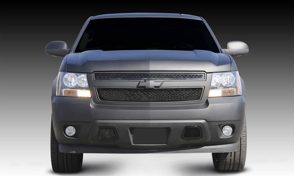 T-REX Grilles - 2007-2013 Avalanche, 07-14 Sub/Tahoe Upper Class Series Main Grille, Black, 2 Pc, Overlay - PN #51051