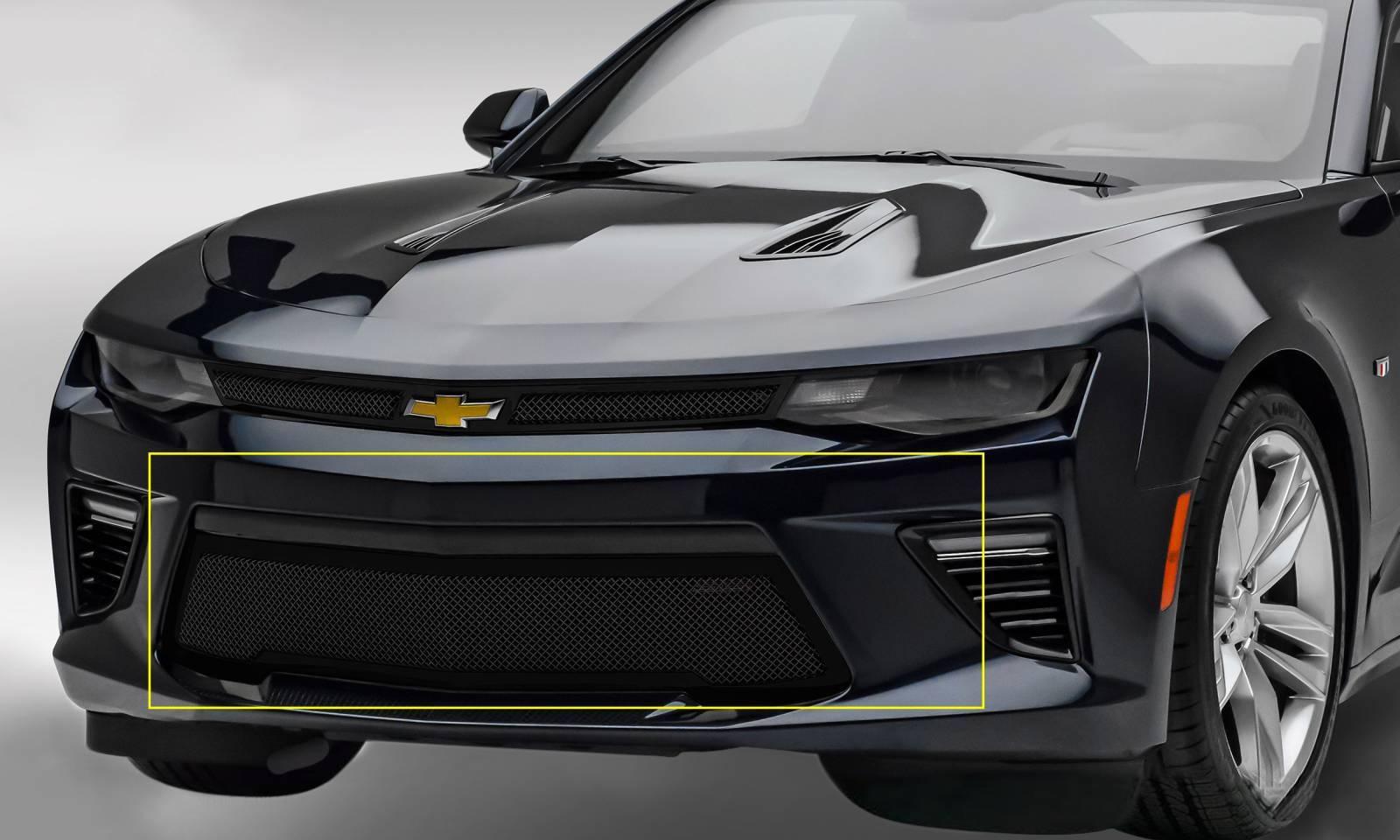 T-REX Grilles - 2016-2018 Camaro Upper Class Series Bumper Grille, Black, 1 Pc, Overlay, V8 - PN #52036