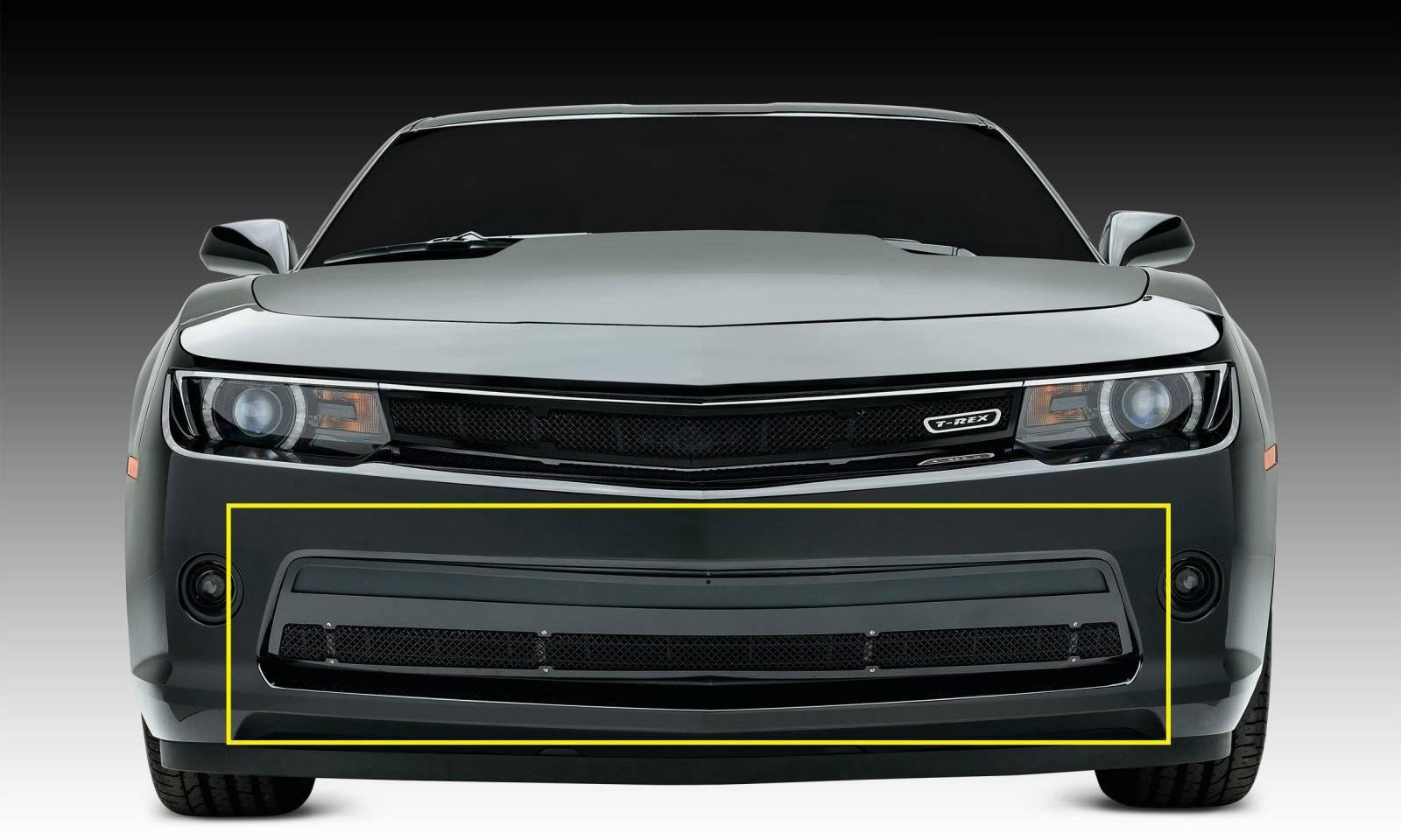T-REX Grilles - 2014-2015 Camaro Upper Class Series Bumper Grille, Black, 1 Pc, Overlay, V6 - PN #52031