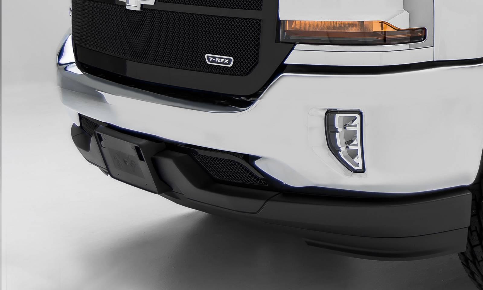 T-REX Grilles - 2016-2018 Silverado 1500 Upper Class Series Bumper Grille, Black, 1 Pc, Overlay - PN #52127