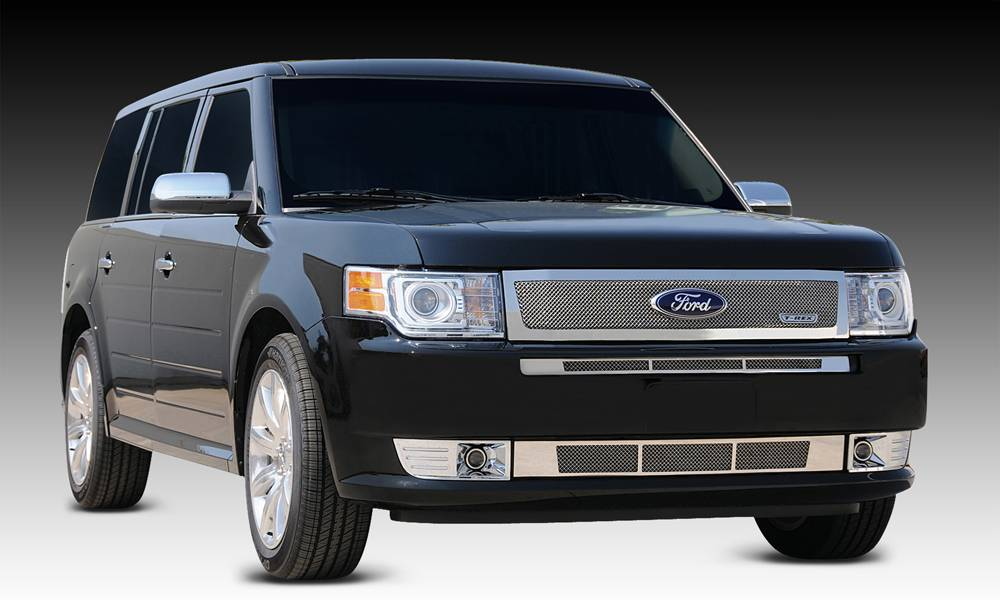 T-REX Grilles - 2009-2012 Ford Flex Upper Class Series Main Grille, Polished, 1 Pc, Replacement - PN #54523