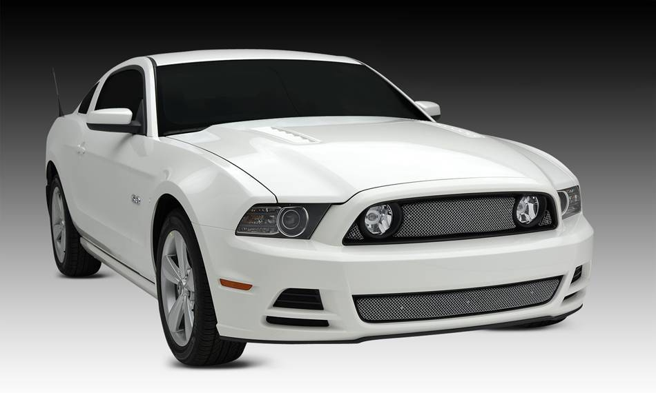 T-REX Grilles - 2013-2014 Mustang GT Sport Grille, Chrome, 3 Pc, Overlay - PN #44525