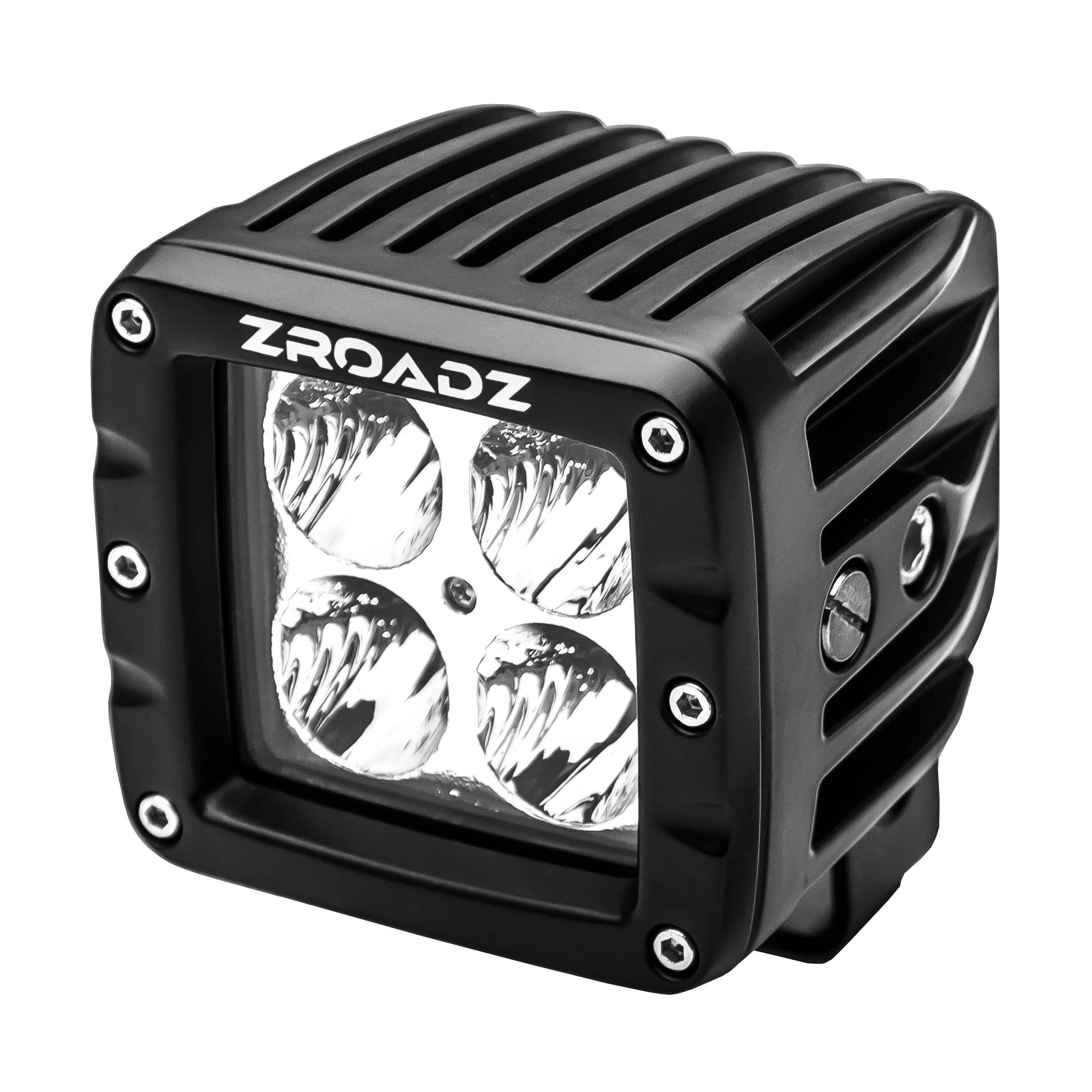 ZROADZ OFF ROAD PRODUCTS - 3 Inch LED Flood Beam Pod Lights - PN #Z30BC14W20