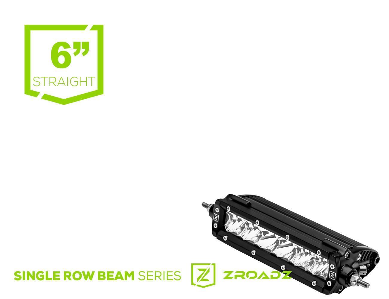 ZROADZ - 6 Inch LED Straight Single Row Slim Light Bar - PN #Z30S1-6-P7EJ