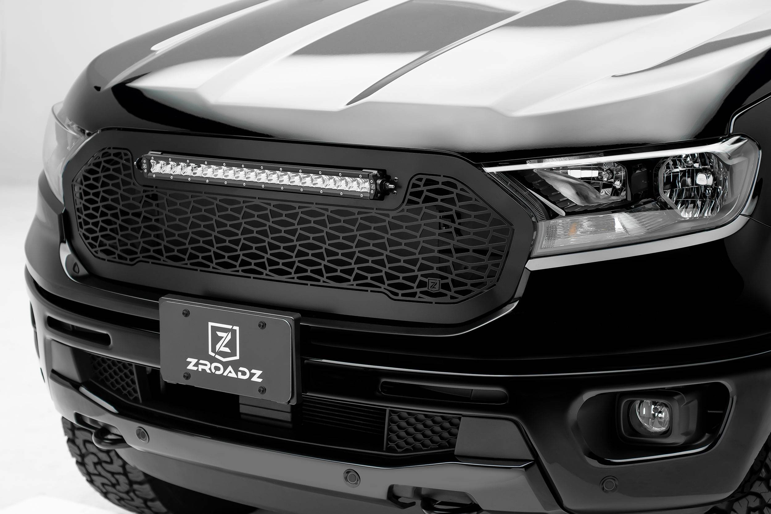 """T-REX Grilles - 2019-2021 Ford Ranger ZROADZ Grille 1 Pc Replacement with (1) 20"""" LED - PN #Z315821"""